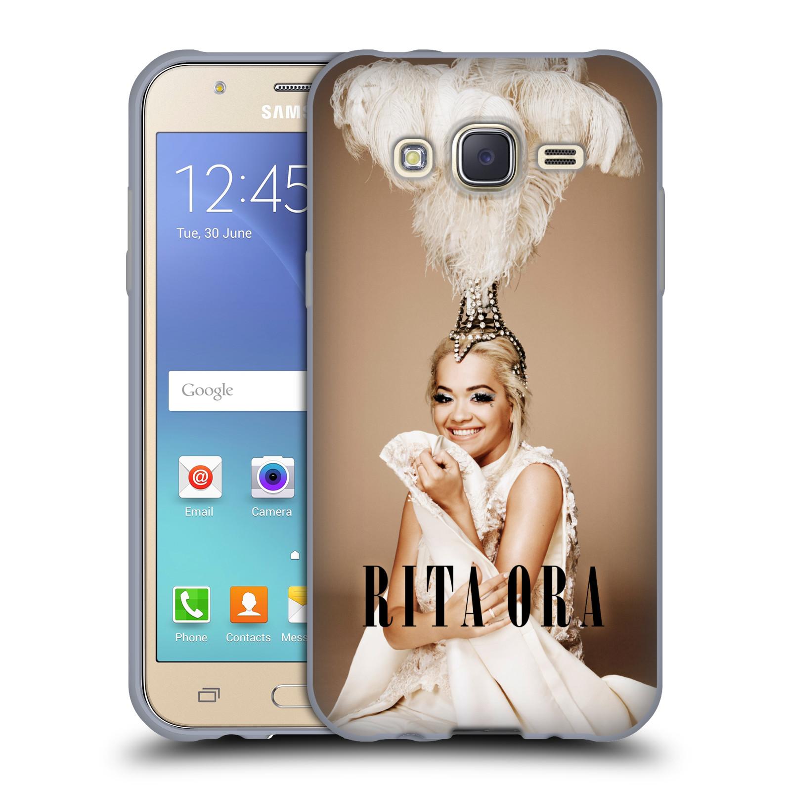 HEAD CASE silikonový obal na mobil Samsung Galaxy J5 2015 (J500) zpěvačka Rita Ora peří