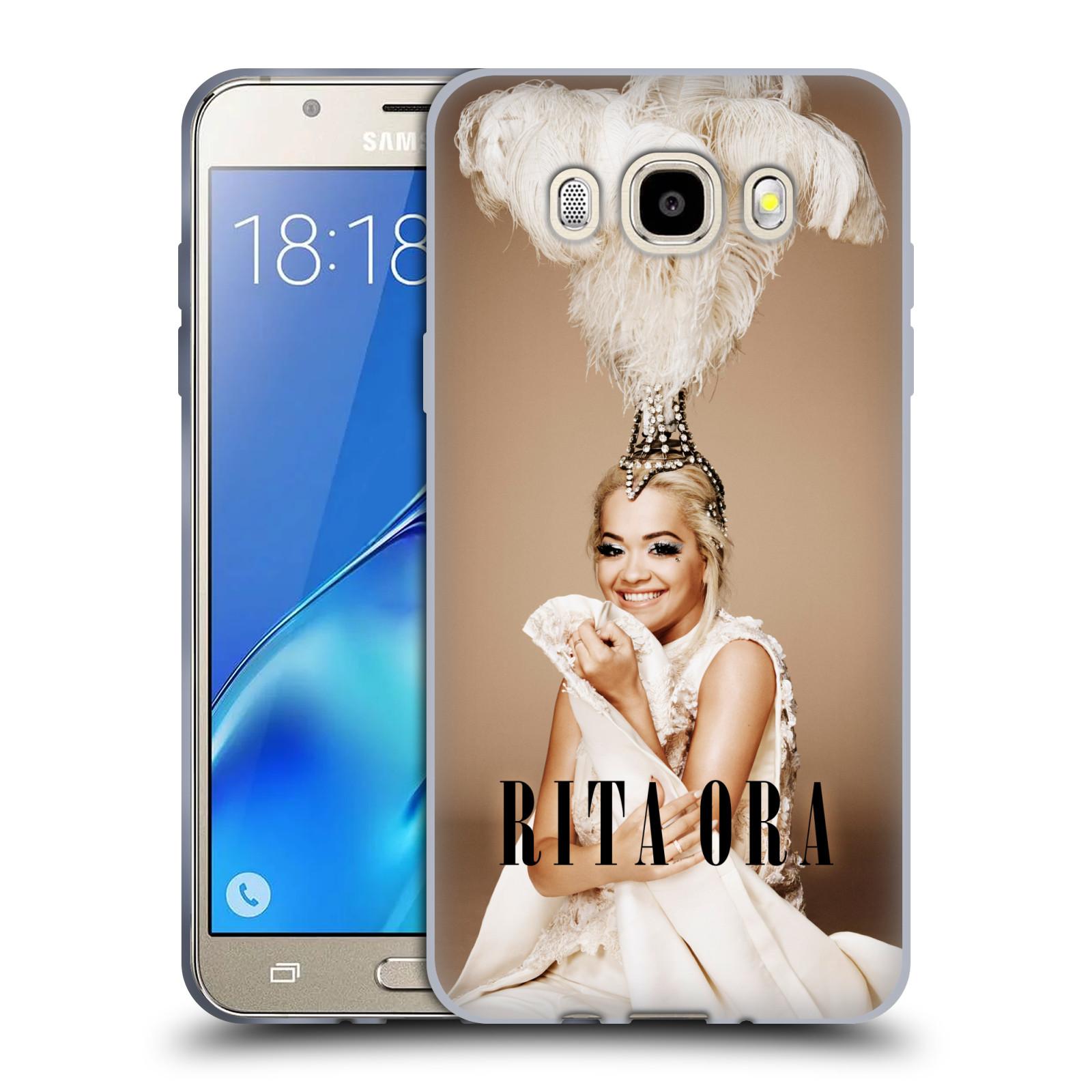 HEAD CASE silikonový obal na mobil Samsung Galaxy J5 2016 (J510) zpěvačka Rita Ora peří