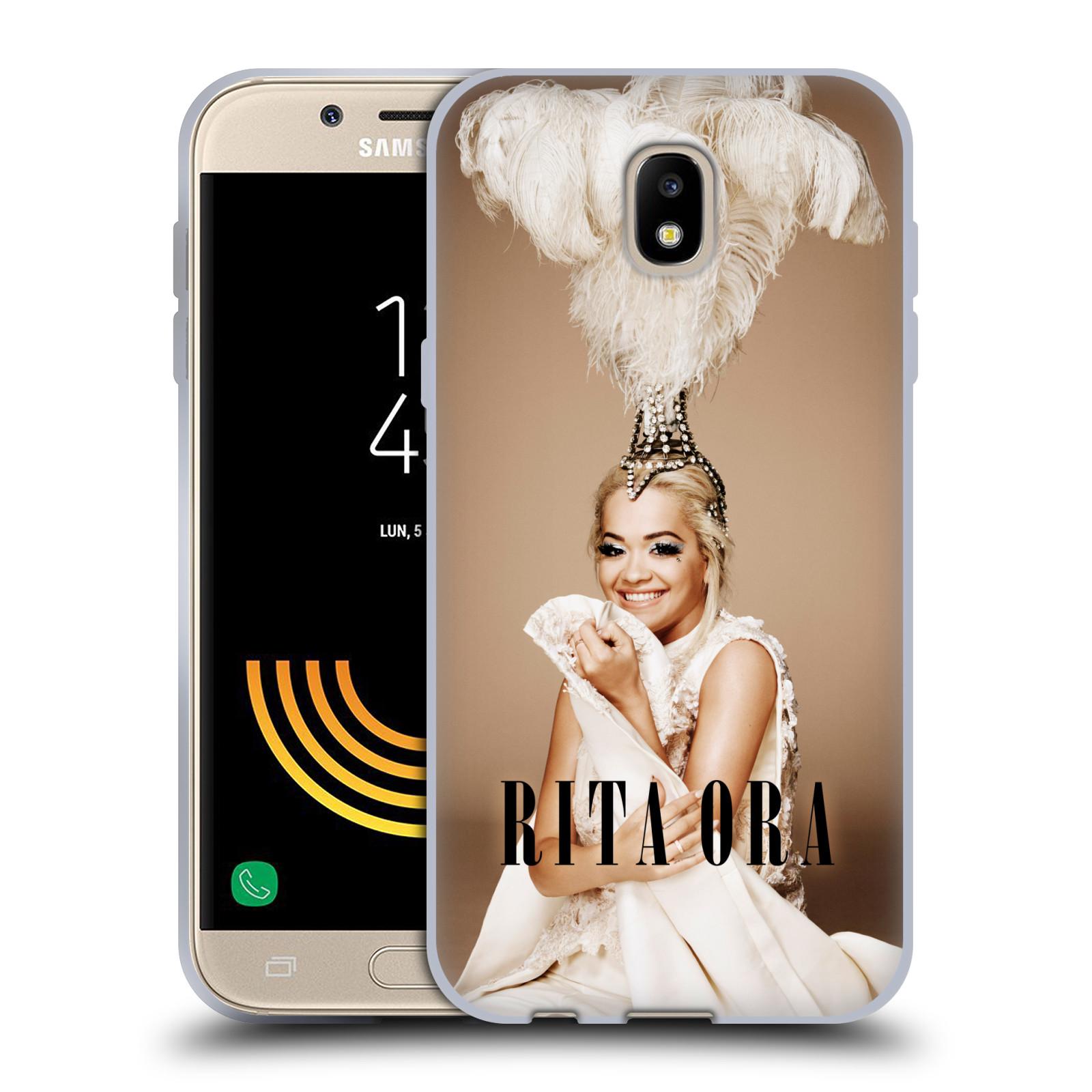 HEAD CASE silikonový obal na mobil Samsung Galaxy J5 2017 zpěvačka Rita Ora peří