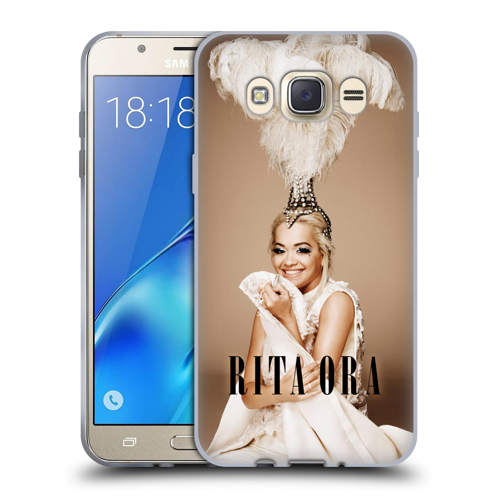 HEAD CASE silikonový obal na mobil Samsung Galaxy J7 2016 zpěvačka Rita Ora peří