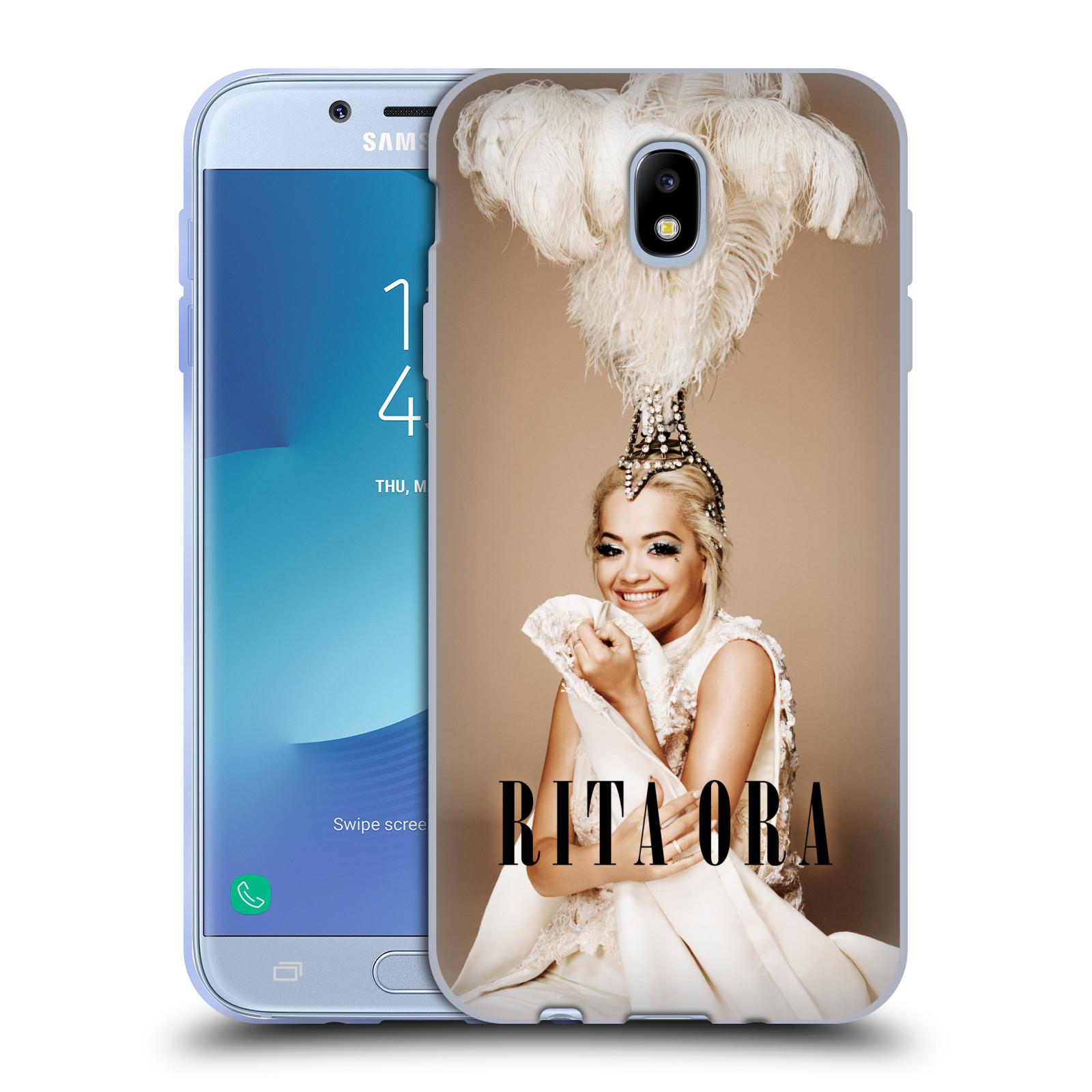 HEAD CASE silikonový obal na mobil Samsung Galaxy J7 2017 zpěvačka Rita Ora peří