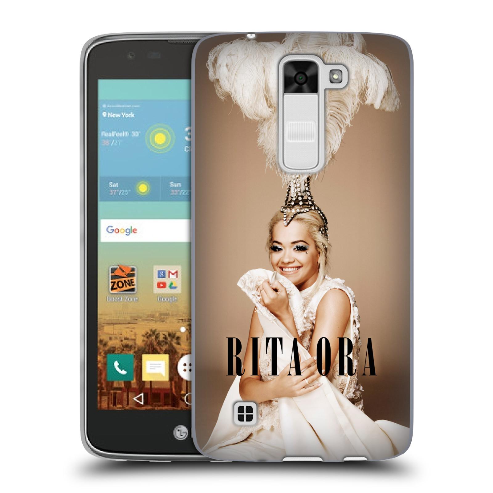 HEAD CASE silikonový obal na mobil LG K7 zpěvačka Rita Ora peří