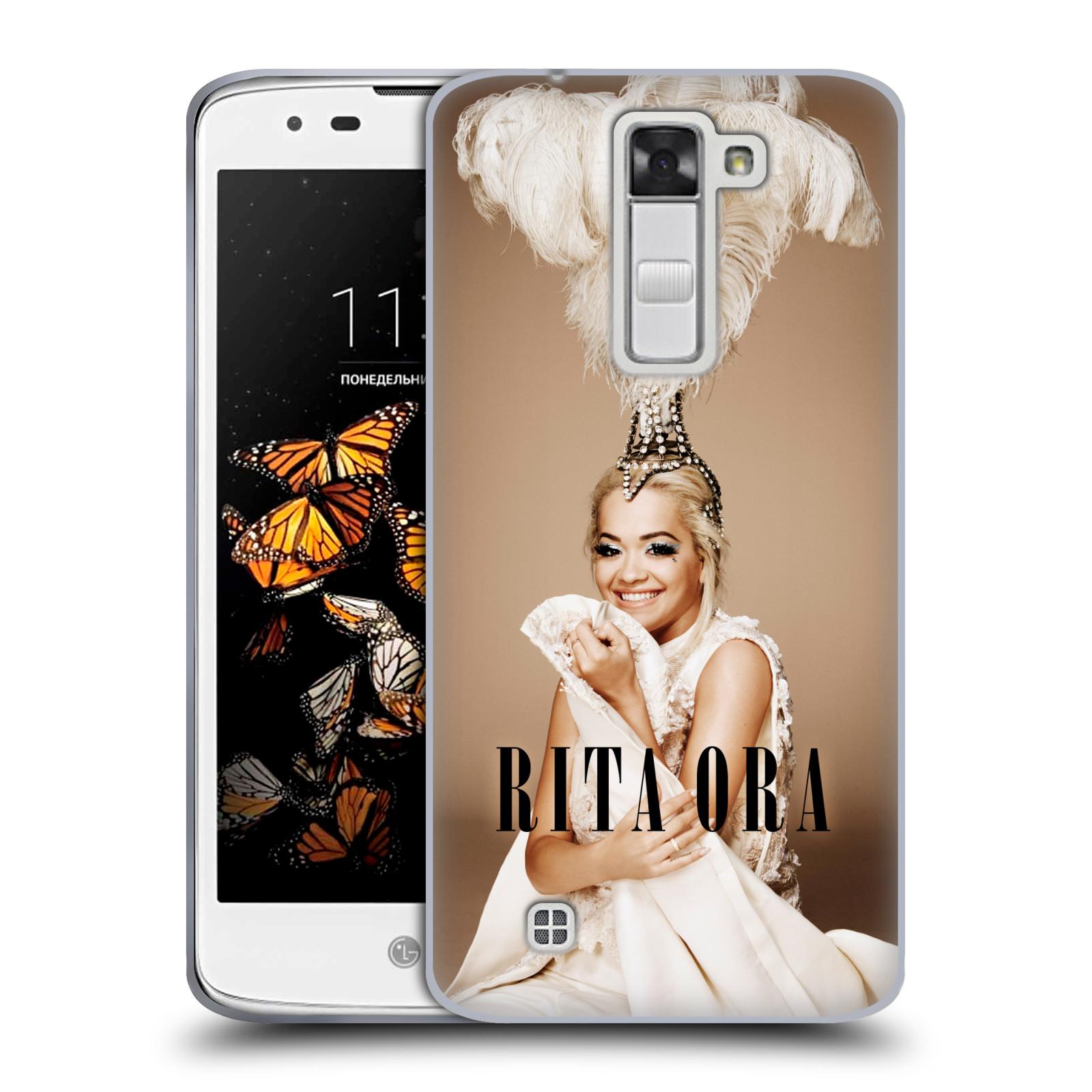 HEAD CASE silikonový obal na mobil LG K8 zpěvačka Rita Ora peří
