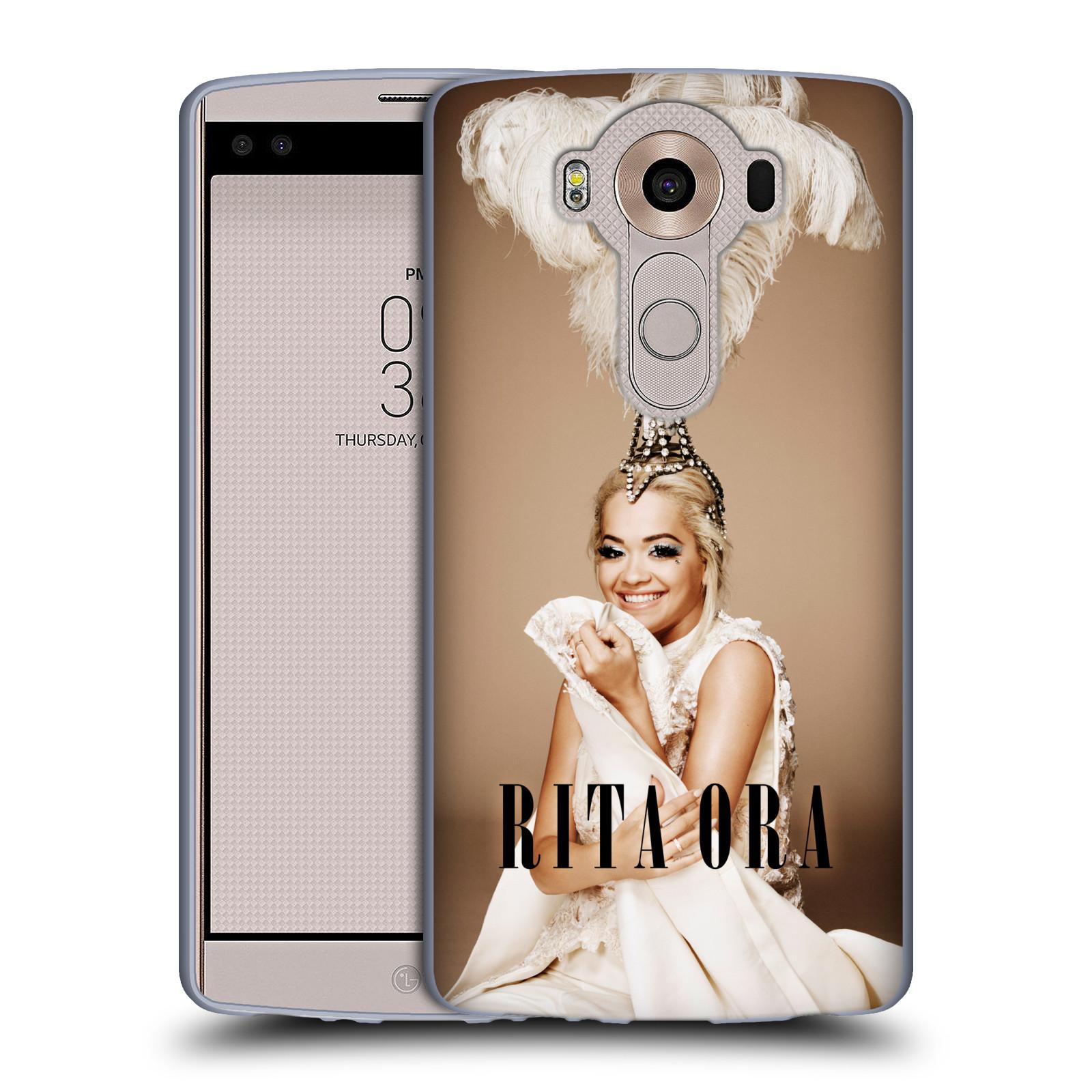 HEAD CASE silikonový obal na mobil LG V10 zpěvačka Rita Ora peří