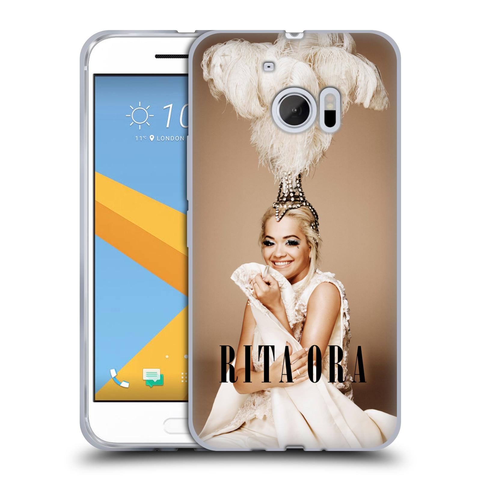 HEAD CASE silikonový obal na mobil HTC 10 zpěvačka Rita Ora peří