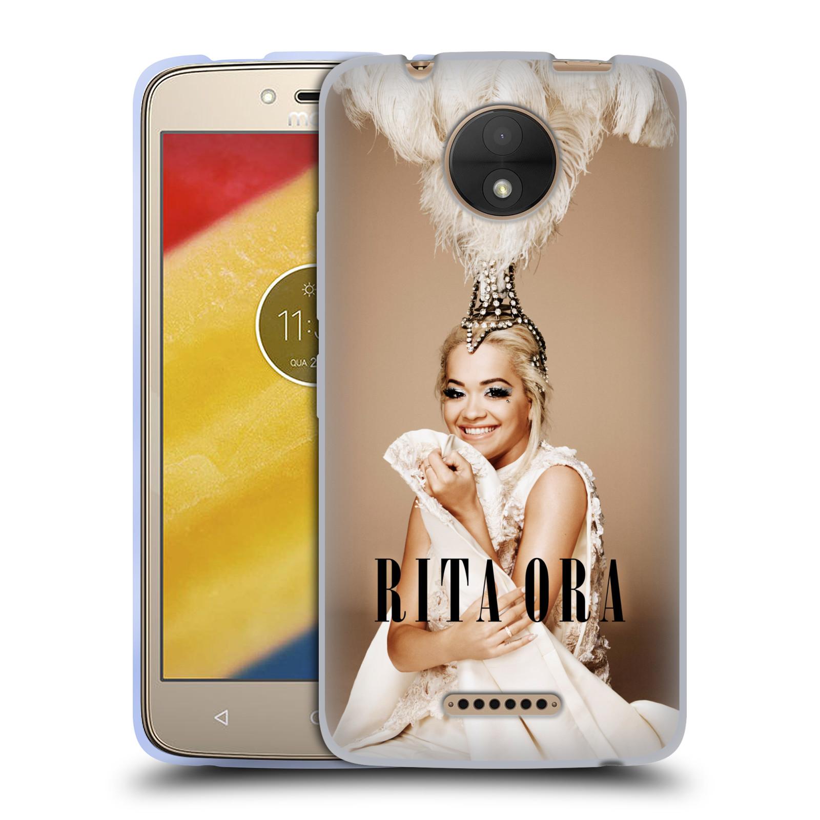 HEAD CASE silikonový obal na mobil Lenovo Moto C zpěvačka Rita Ora peří