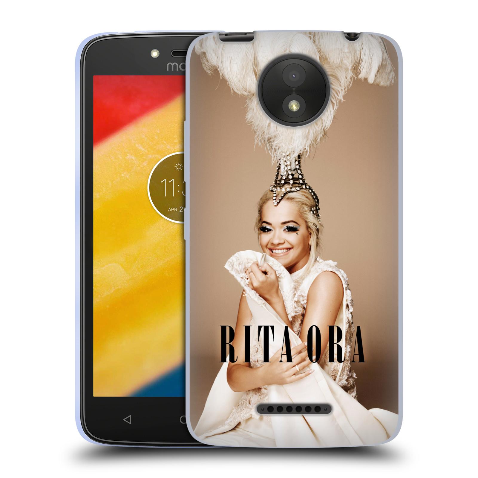 HEAD CASE silikonový obal na mobil Lenovo Moto C PLUS zpěvačka Rita Ora peří