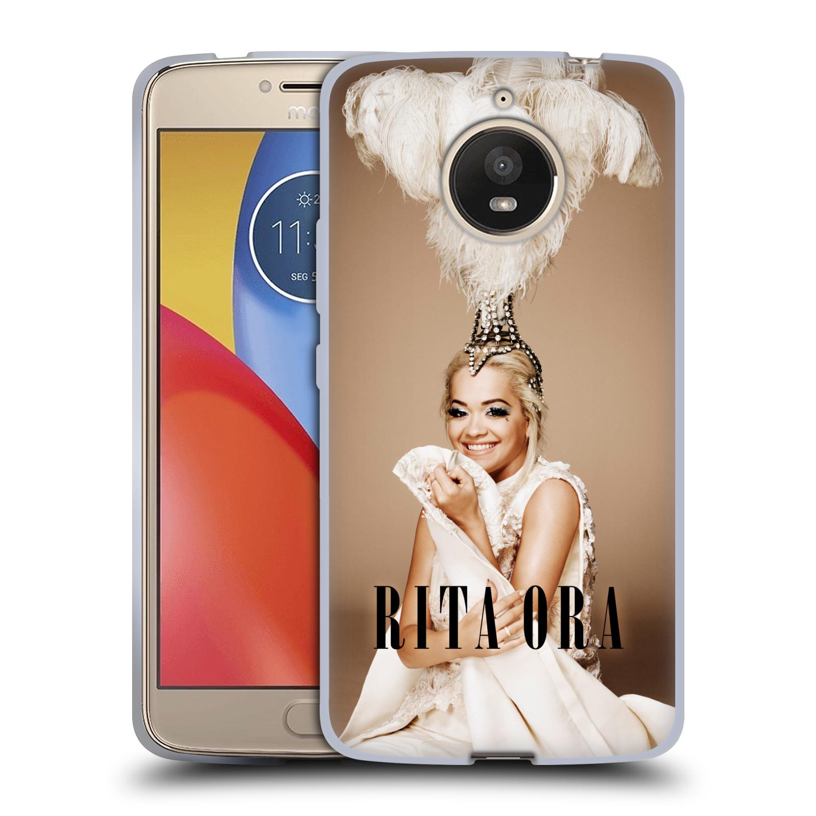 HEAD CASE silikonový obal na mobil Lenovo Moto E4 PLUS zpěvačka Rita Ora peří