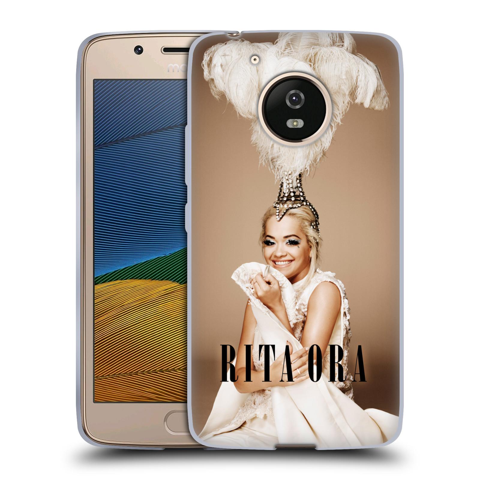 HEAD CASE silikonový obal na mobil Lenovo Moto G5 zpěvačka Rita Ora peří