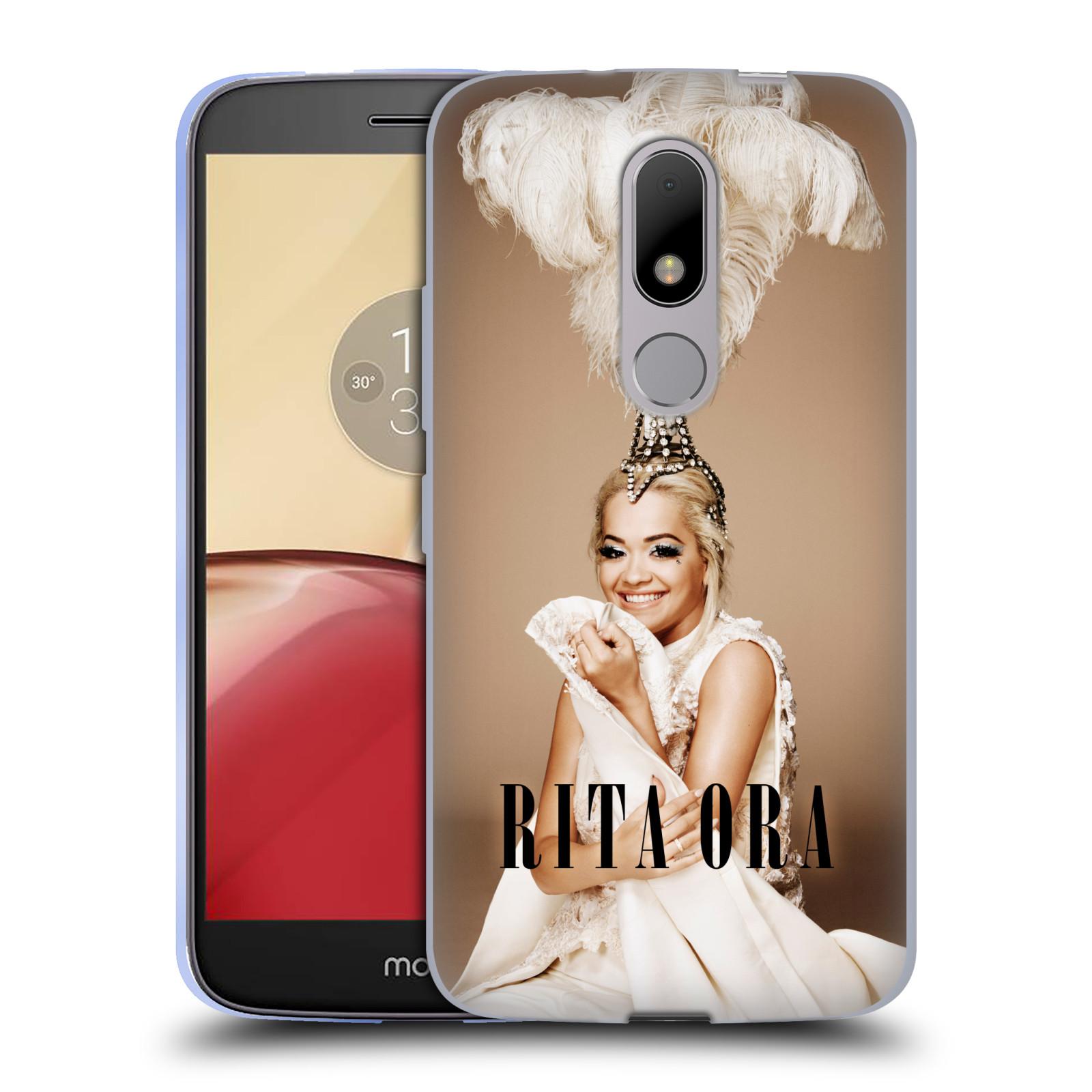 HEAD CASE silikonový obal na mobil Lenovo Moto M zpěvačka Rita Ora peří