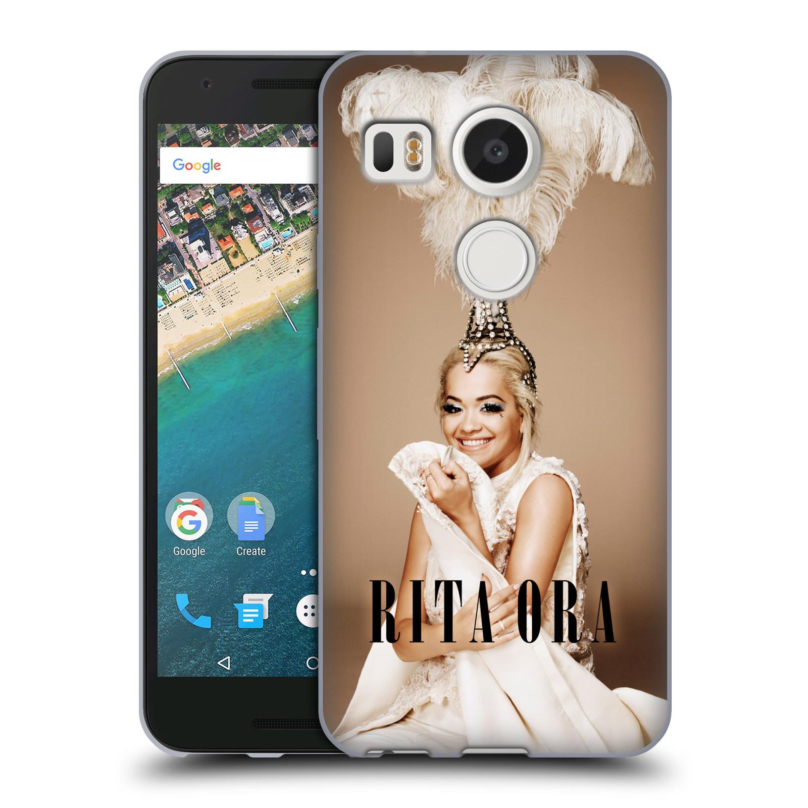 HEAD CASE silikonový obal na mobil LG NEXUS 5X zpěvačka Rita Ora peří