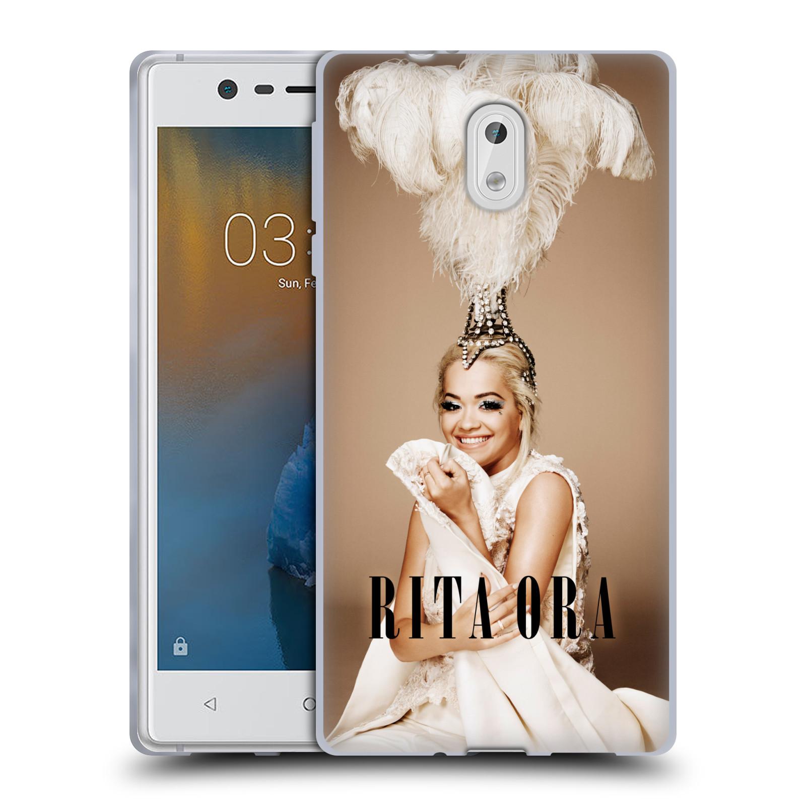 HEAD CASE silikonový obal na mobil Nokia 3 zpěvačka Rita Ora peří