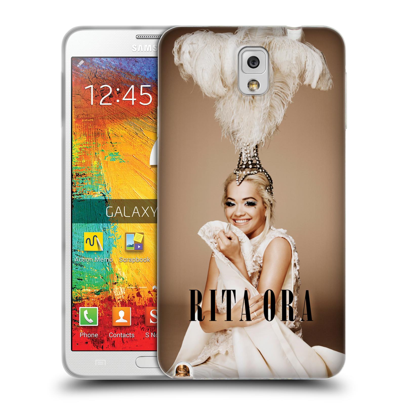 HEAD CASE silikonový obal na mobil Samsung Galaxy Note 3 zpěvačka Rita Ora peří