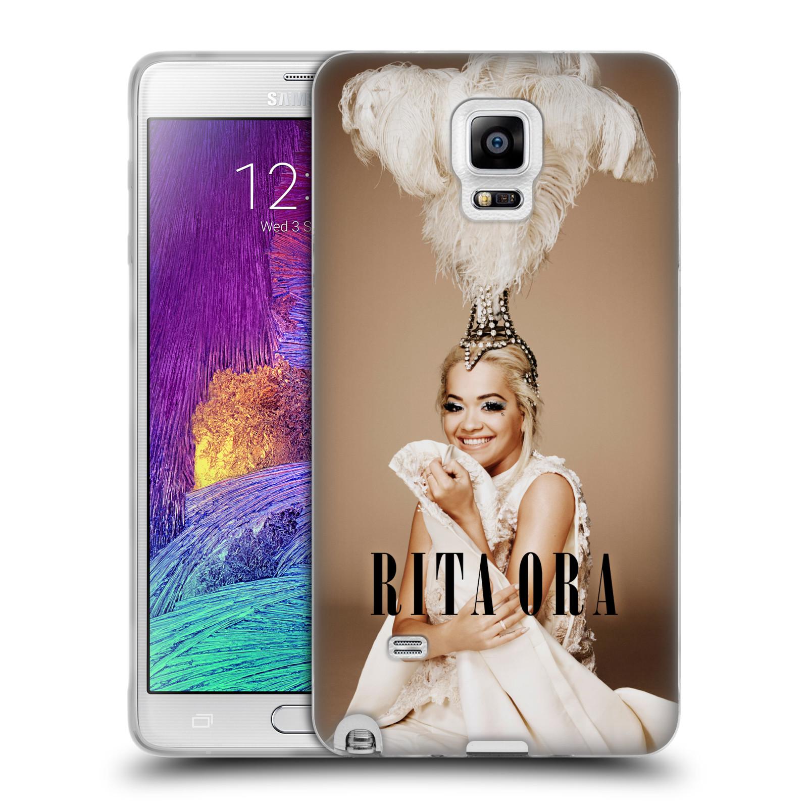 HEAD CASE silikonový obal na mobil Samsung Galaxy Note 4 zpěvačka Rita Ora peří
