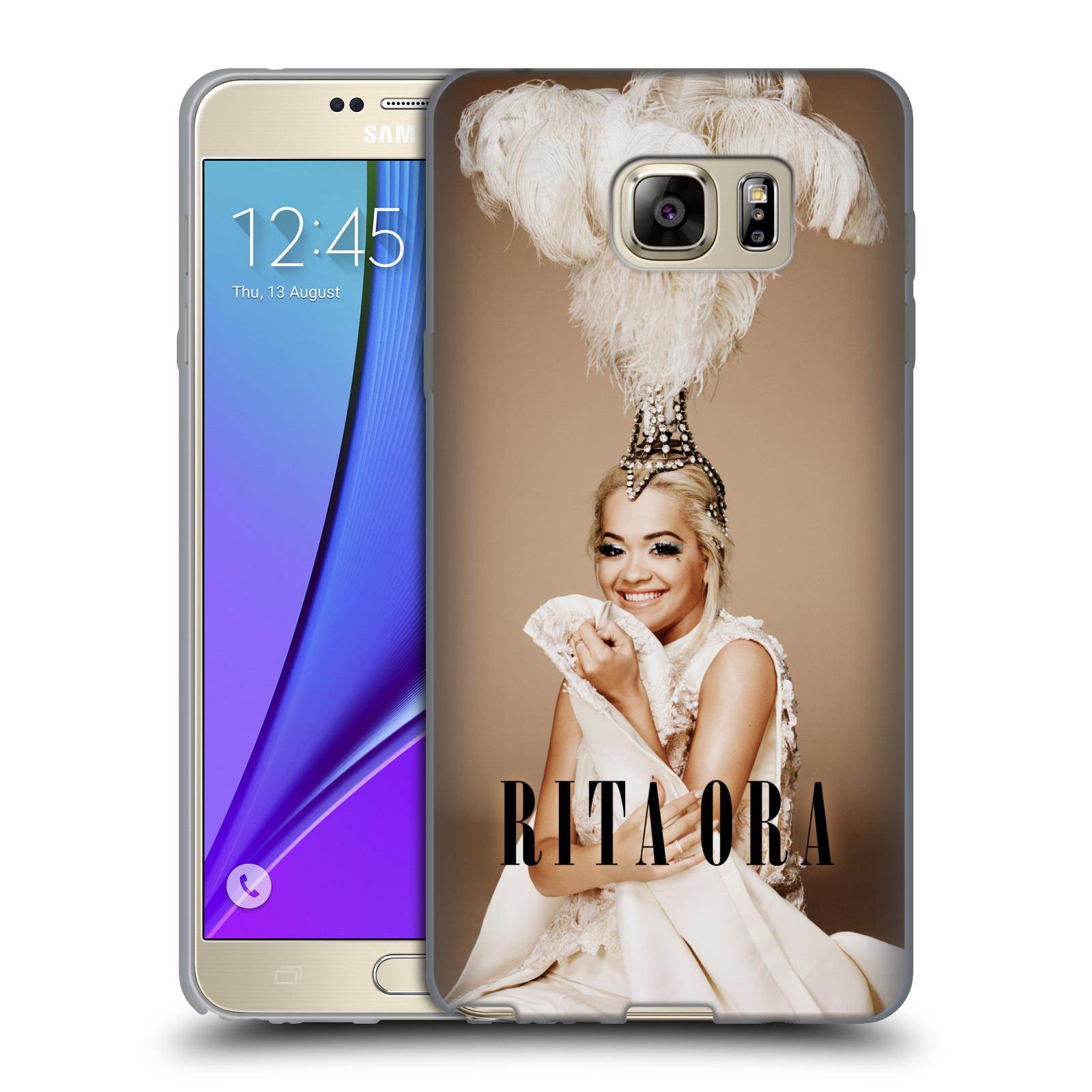 HEAD CASE silikonový obal na mobil Samsung Galaxy Note 5 zpěvačka Rita Ora peří