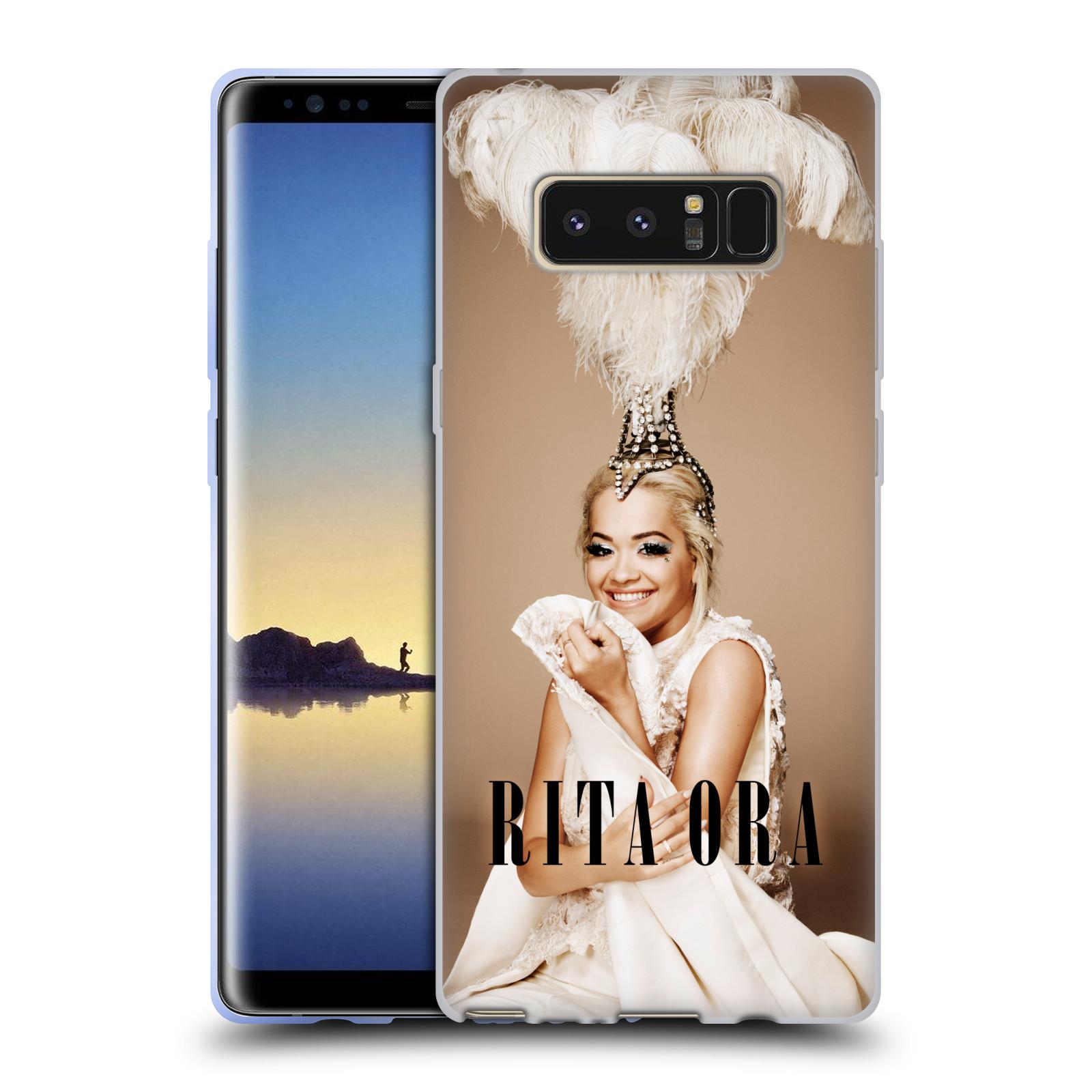 HEAD CASE silikonový obal na mobil Samsung Galaxy Note 8 zpěvačka Rita Ora peří