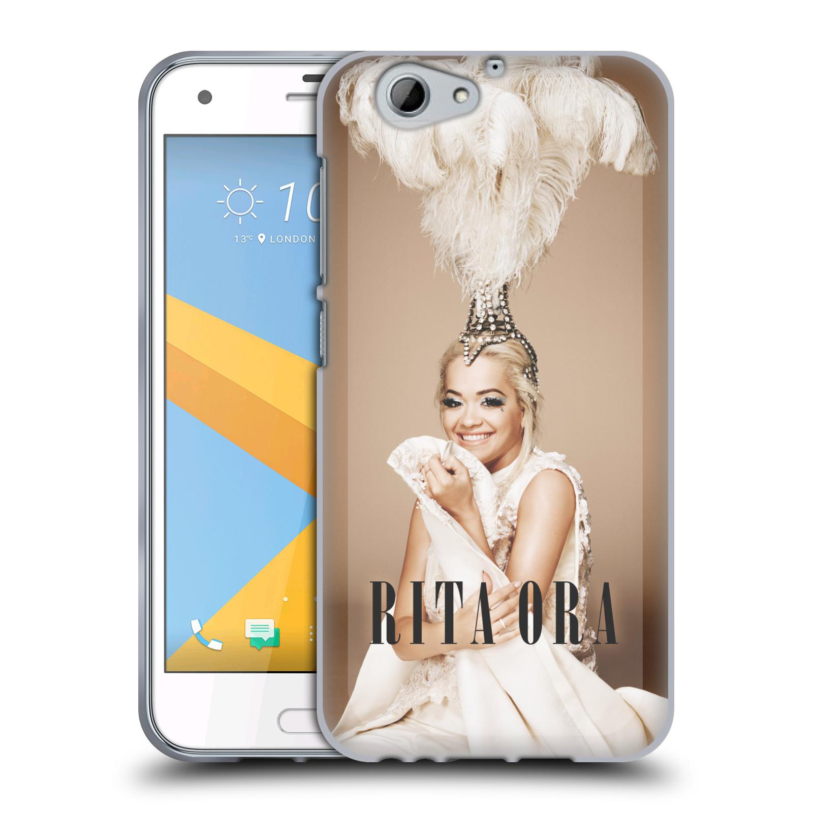 HEAD CASE silikonový obal na mobil HTC One A9s zpěvačka Rita Ora peří
