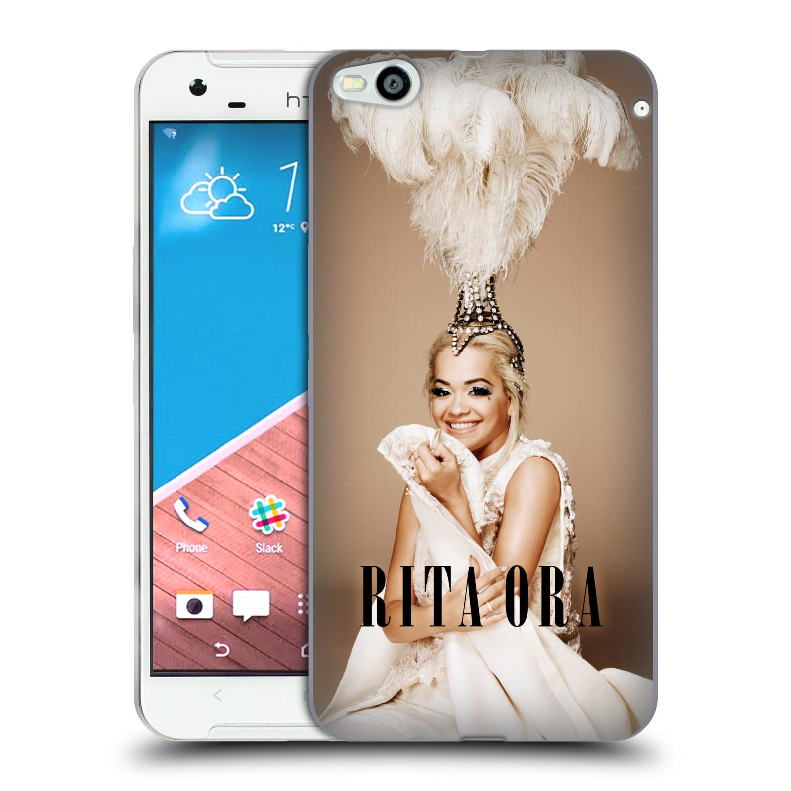 HEAD CASE silikonový obal na mobil  HTC One X9 zpěvačka Rita Ora peří