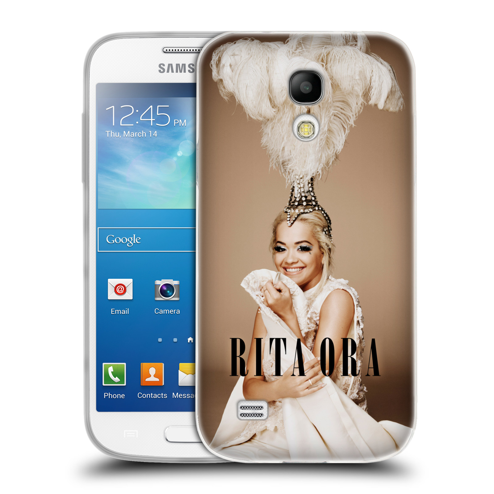 HEAD CASE silikonový obal na mobil Samsung Galaxy S4 MINI zpěvačka Rita Ora peří