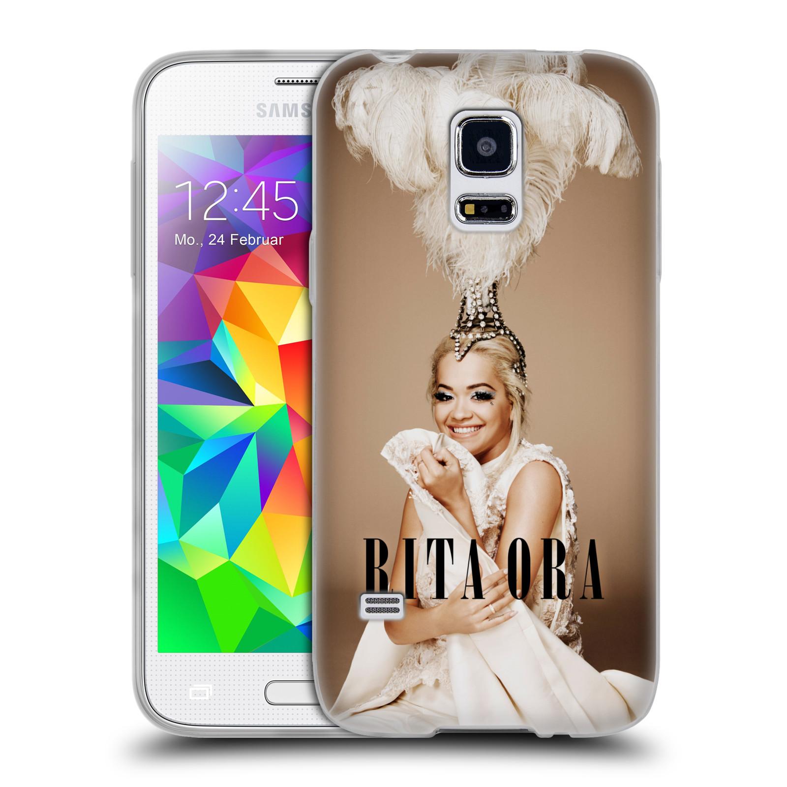 HEAD CASE silikonový obal na mobil Samsung Galaxy S5 MINI zpěvačka Rita Ora peří