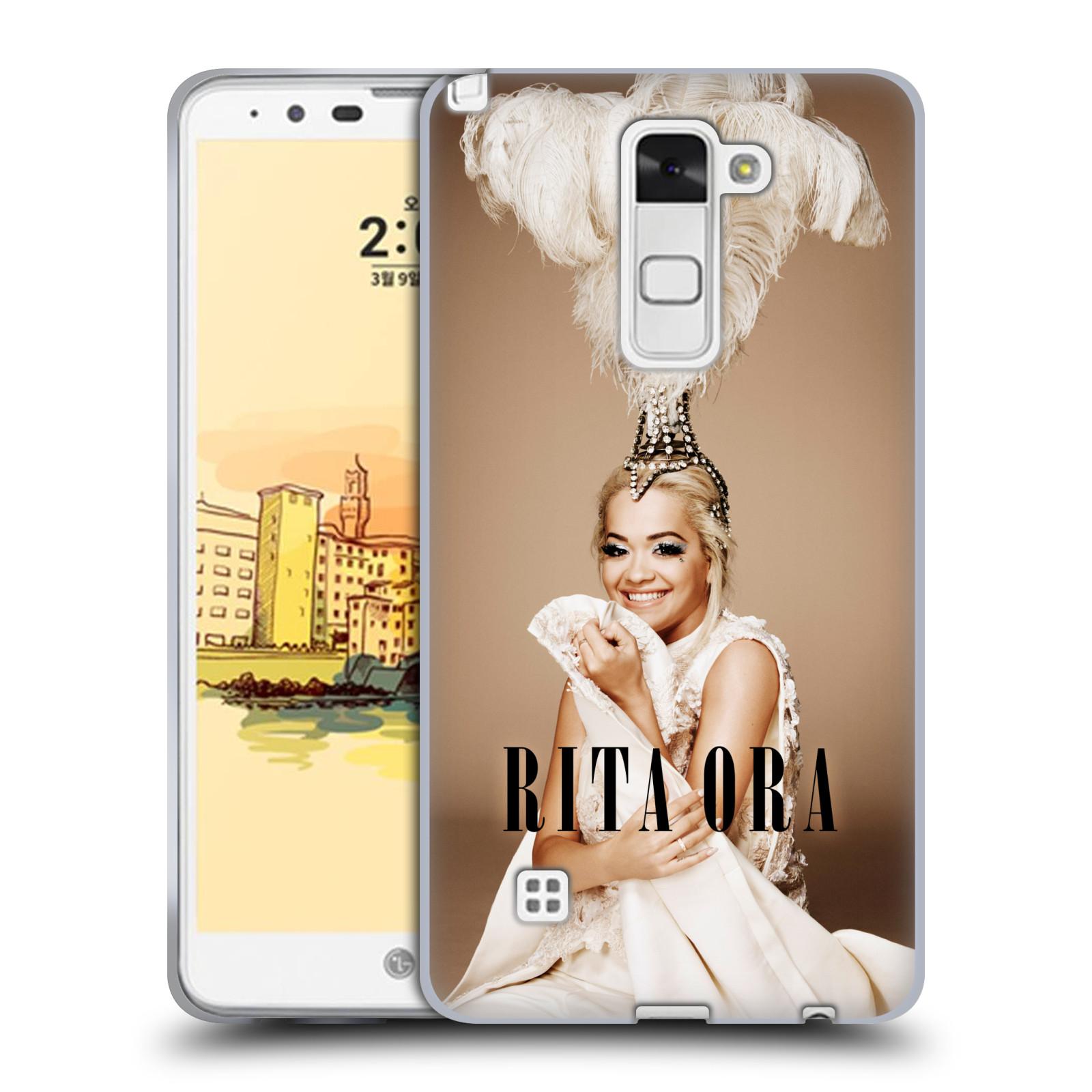 HEAD CASE silikonový obal na mobil LG Stylus 2 zpěvačka Rita Ora peří