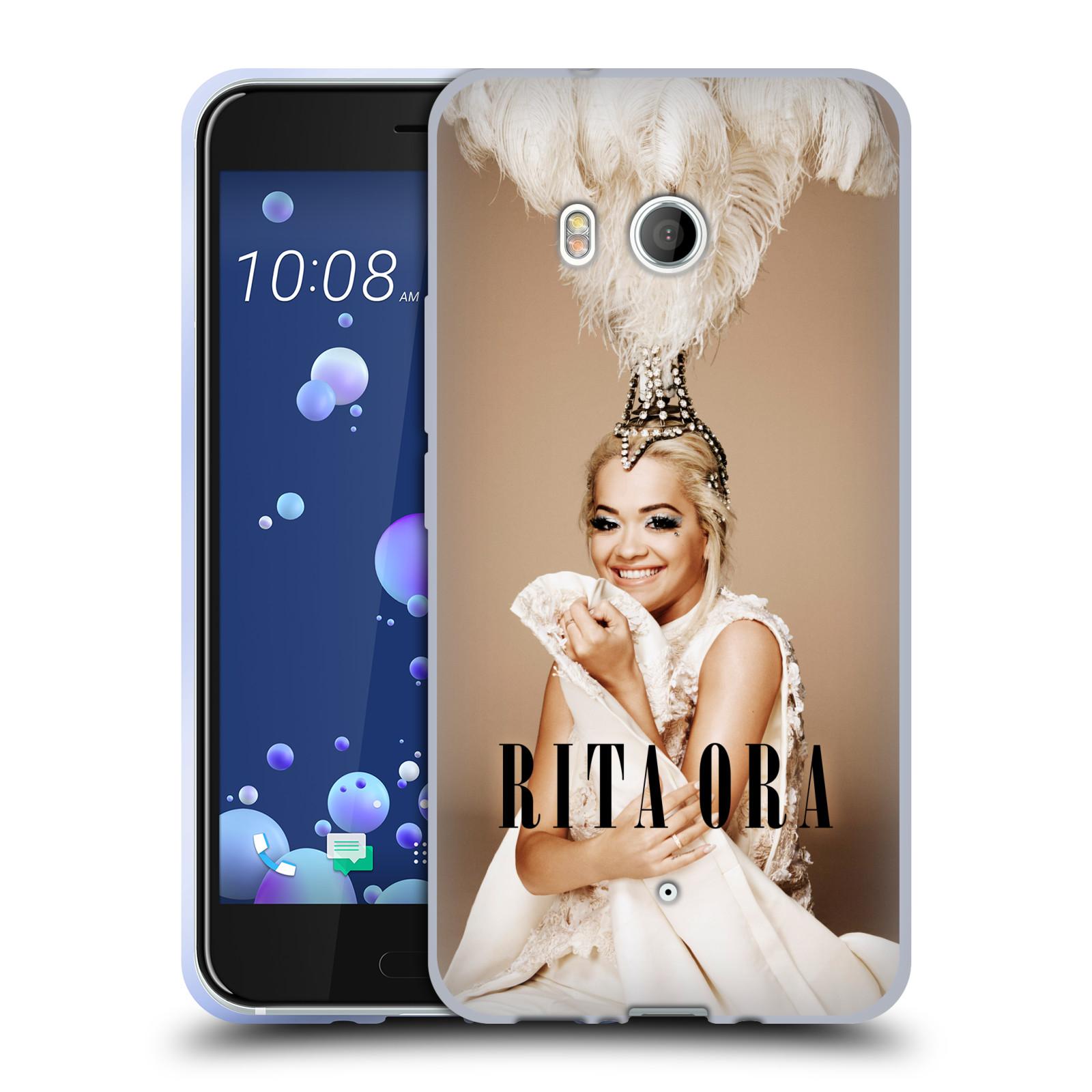 HEAD CASE silikonový obal na mobil HTC U11 / HTC U11 DUAL SIM zpěvačka Rita Ora peří