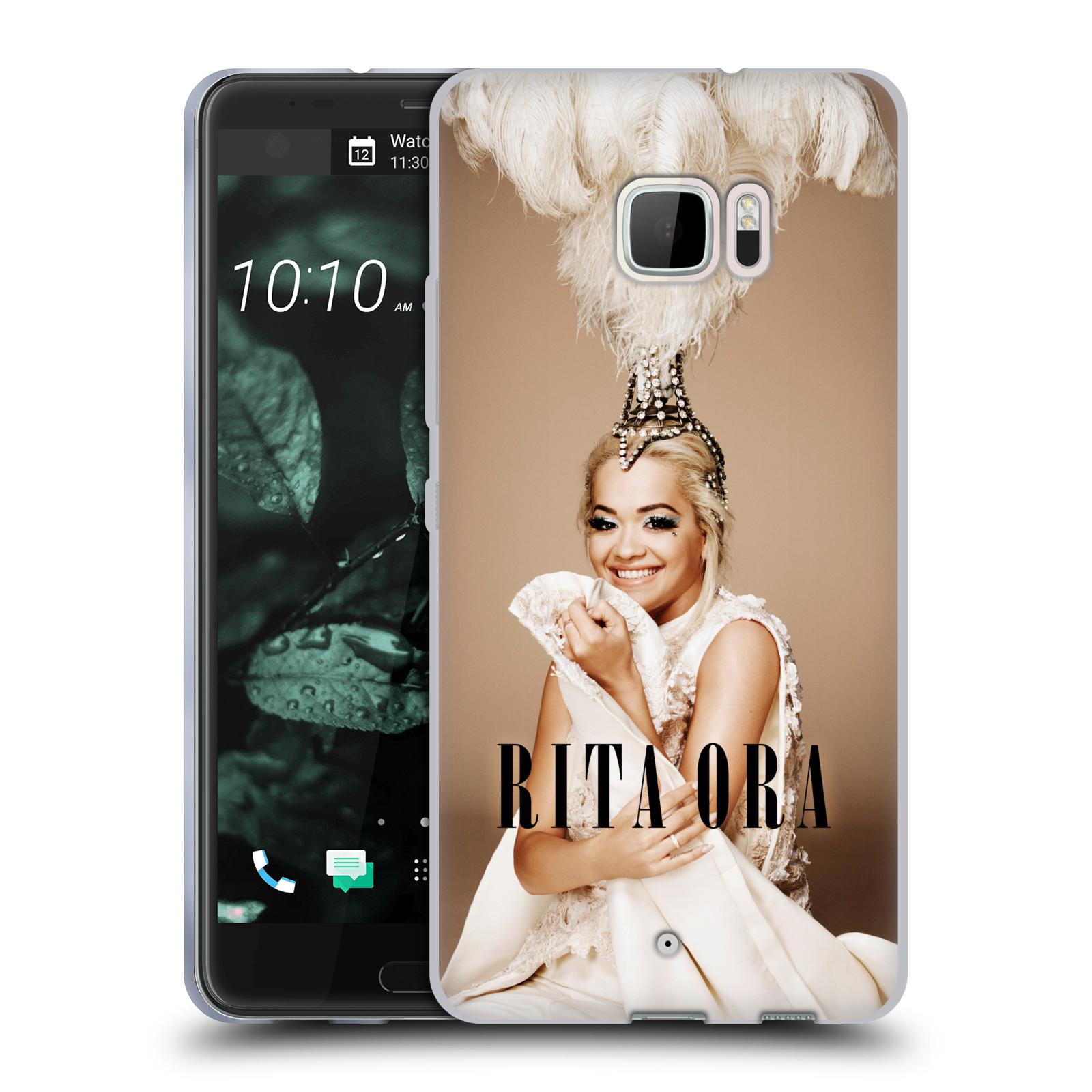 HEAD CASE silikonový obal na mobil HTC U Ultra zpěvačka Rita Ora peří