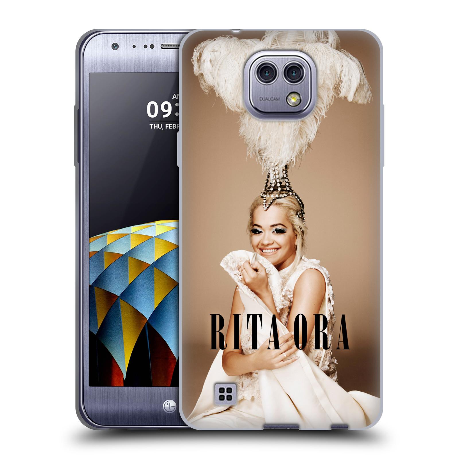 HEAD CASE silikonový obal na mobil LG X CAM zpěvačka Rita Ora peří