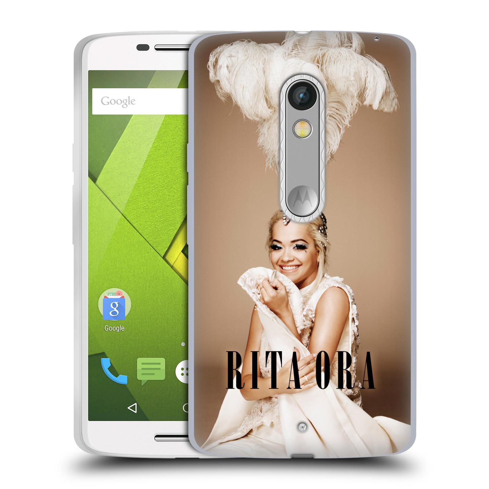 HEAD CASE silikonový obal na mobil Lenovo Moto X PLAY zpěvačka Rita Ora peří