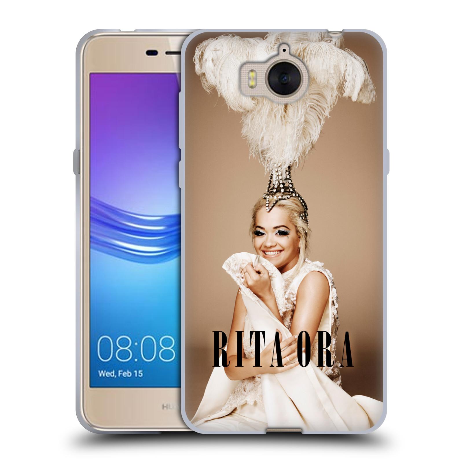 HEAD CASE silikonový obal na mobil Huawei Y5 2017 zpěvačka Rita Ora peří