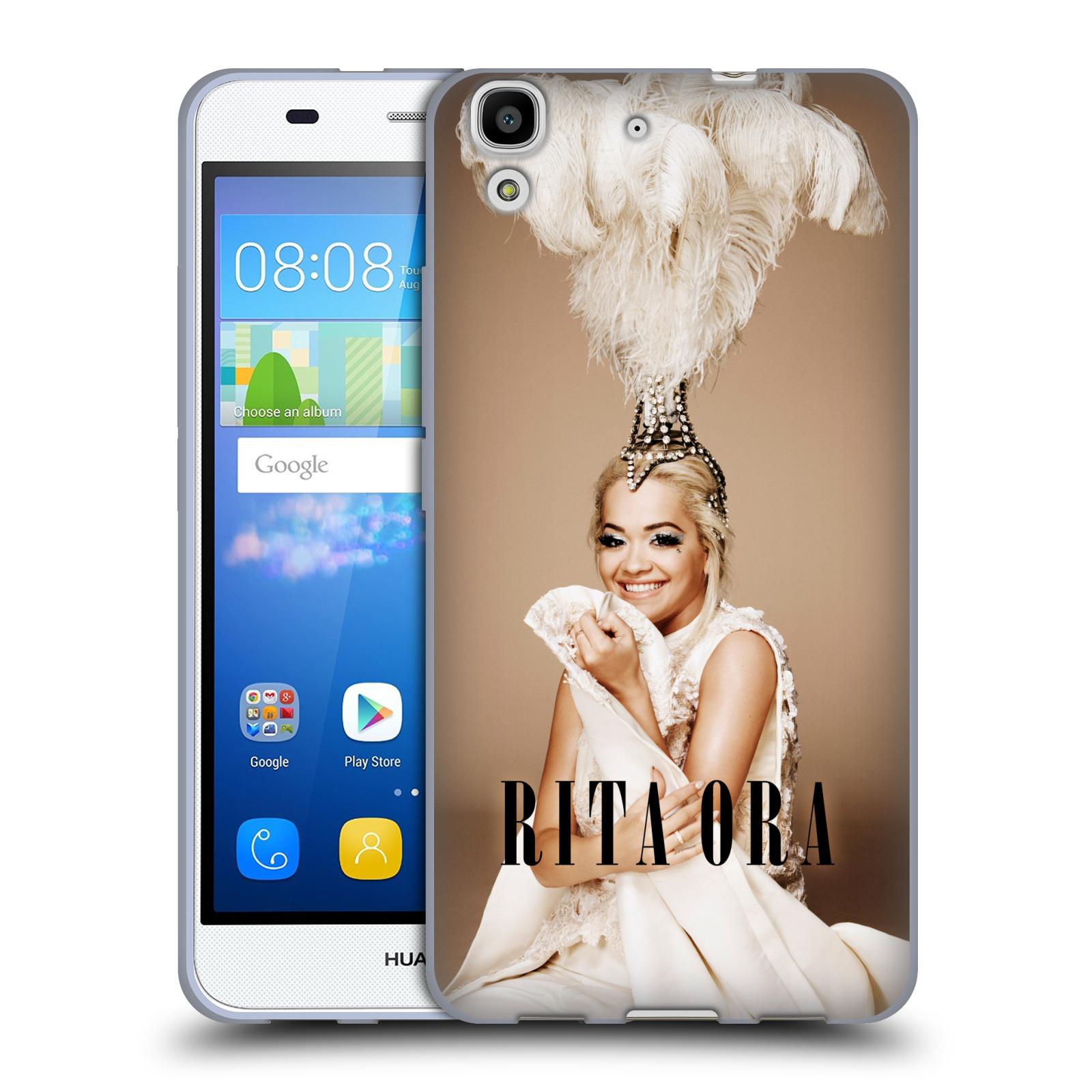 HEAD CASE silikonový obal na mobil Huawei Y6 zpěvačka Rita Ora peří