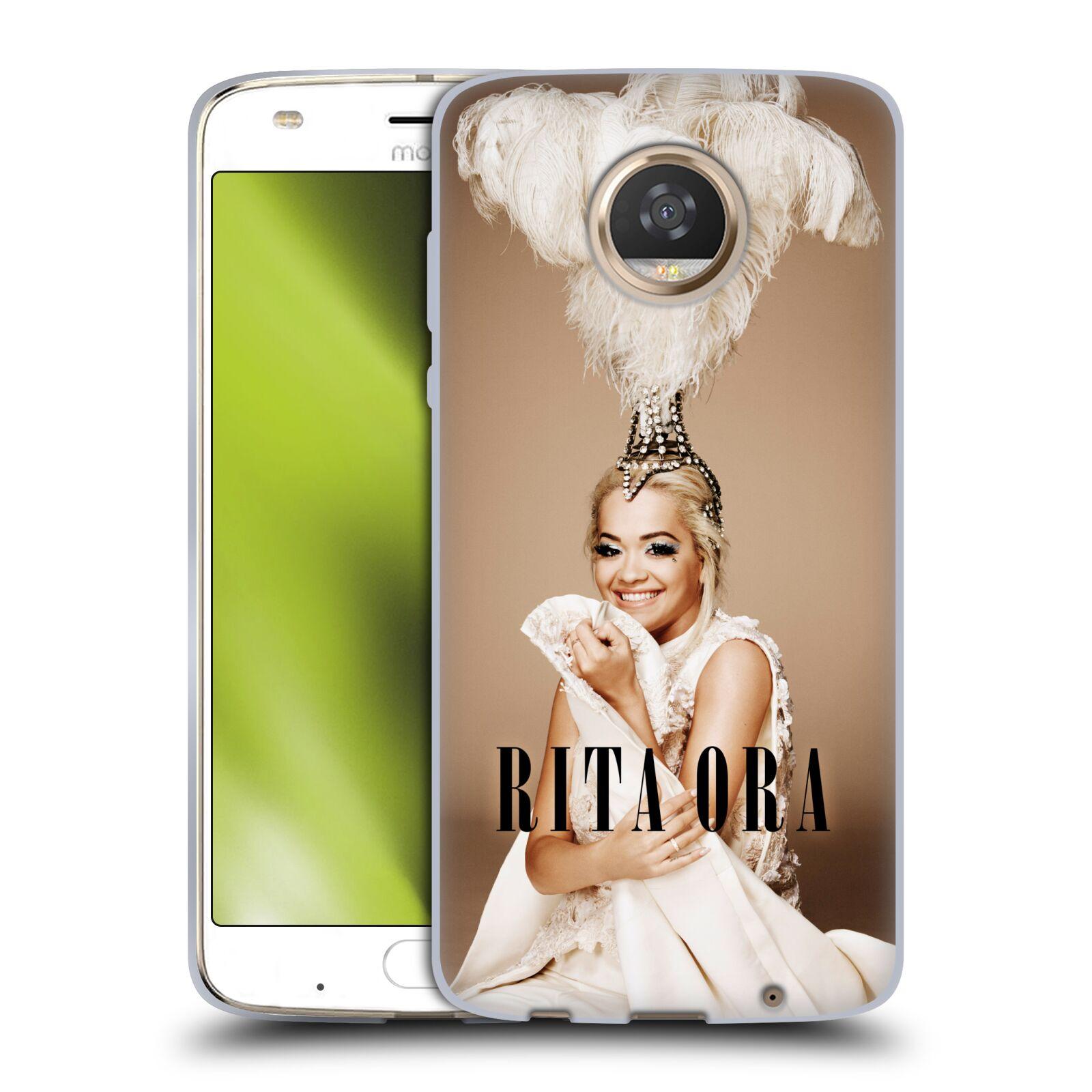 HEAD CASE silikonový obal na mobil Motorola Moto Z2 PLAY zpěvačka Rita Ora peří