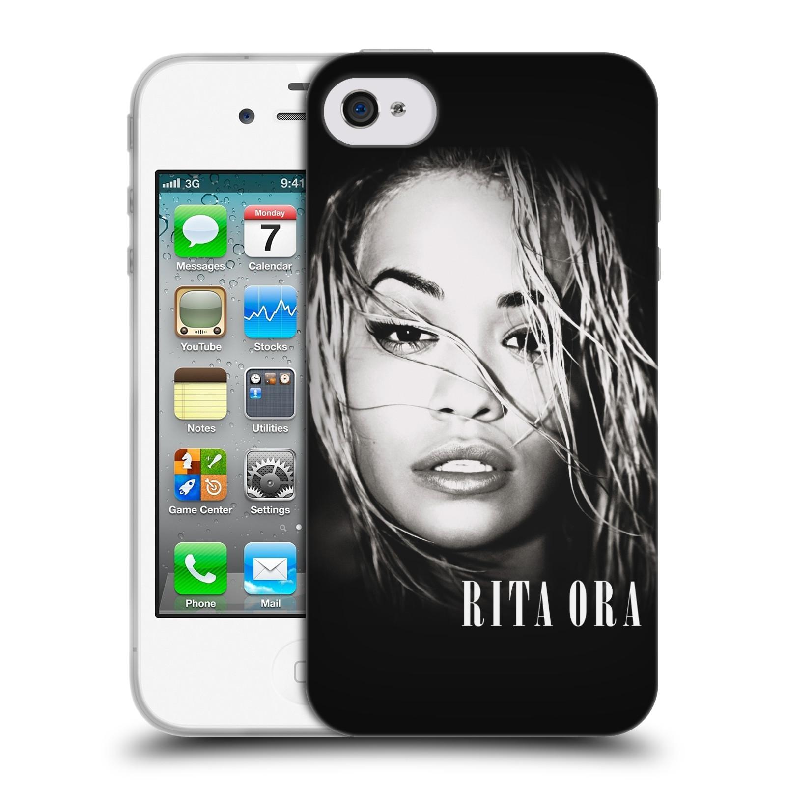 HEAD CASE silikonový obal na mobil Apple Iphone 4/4S zpěvačka Rita Ora foto tvář