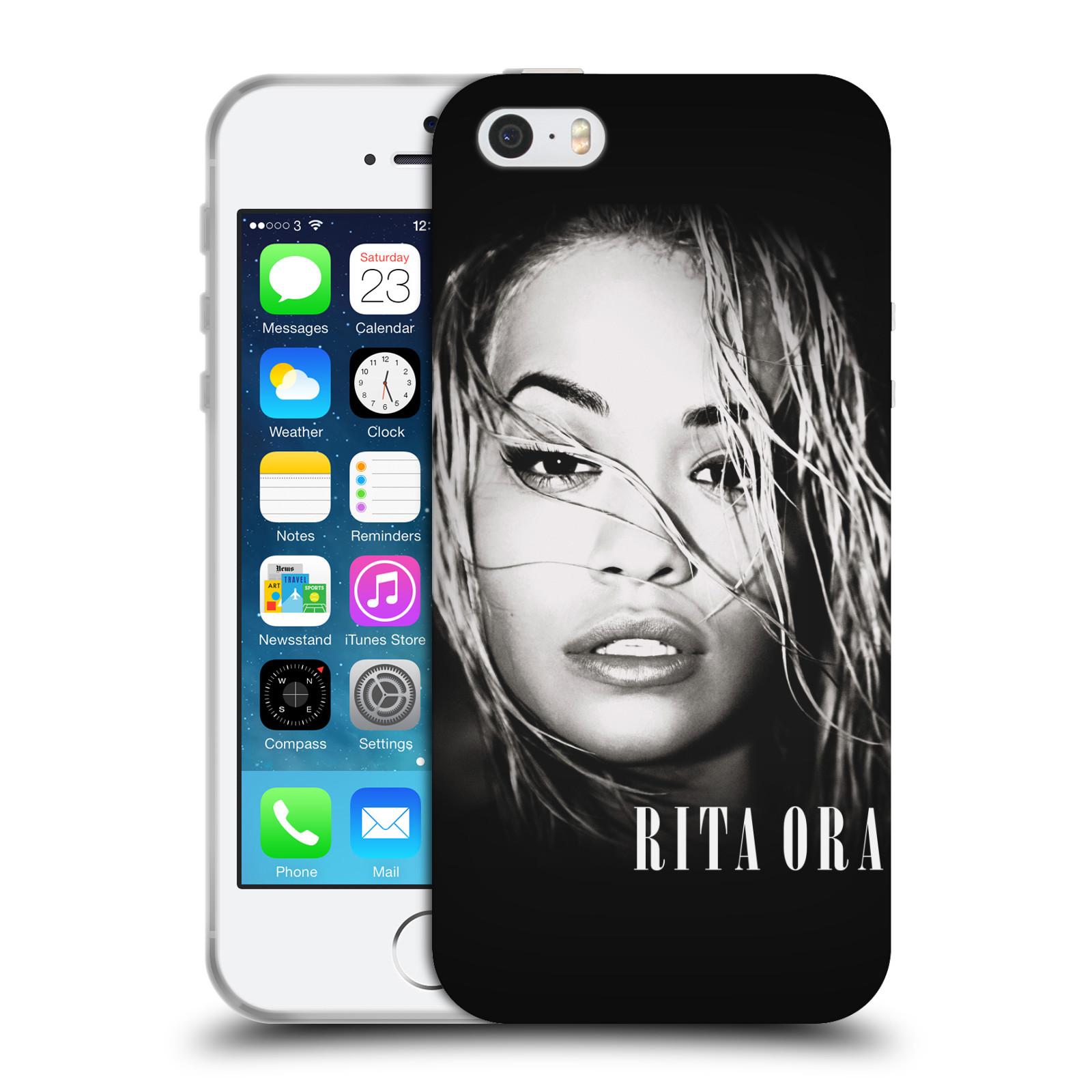 HEAD CASE silikonový obal na mobil Apple Iphone 5/5S zpěvačka Rita Ora foto tvář