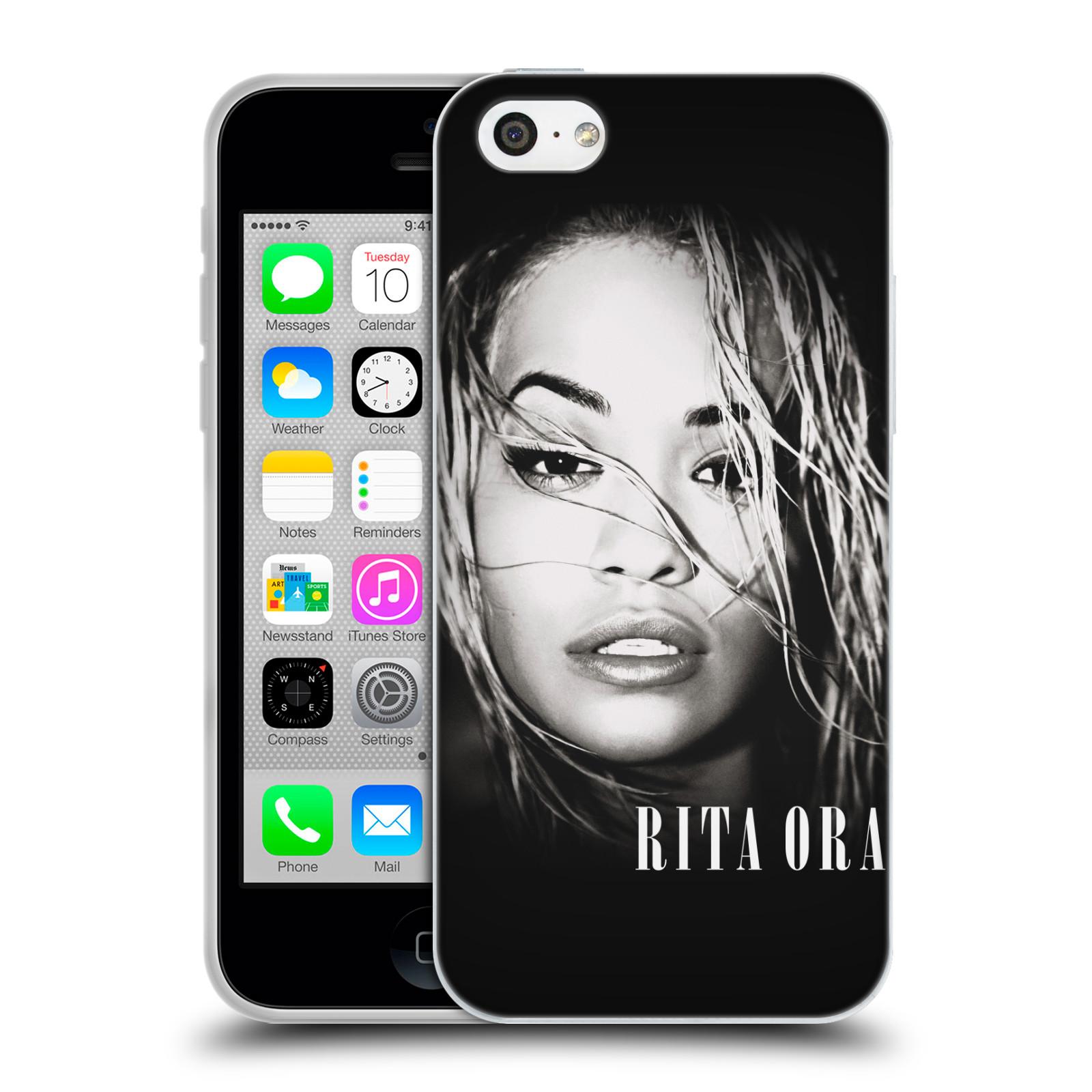 HEAD CASE silikonový obal na mobil Apple Iphone 5C zpěvačka Rita Ora foto tvář