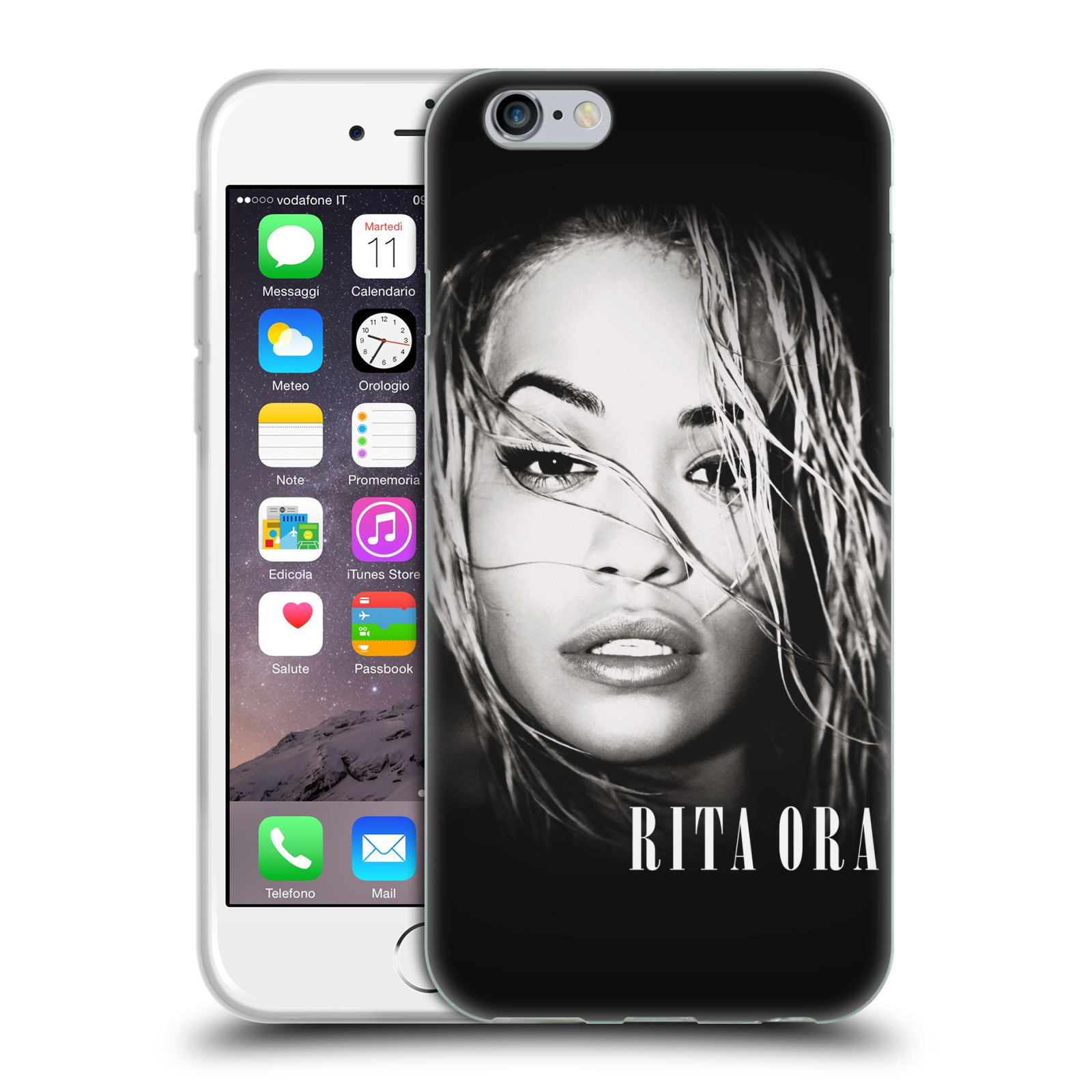 HEAD CASE silikonový obal na mobil Apple Iphone 6/6S zpěvačka Rita Ora foto tvář