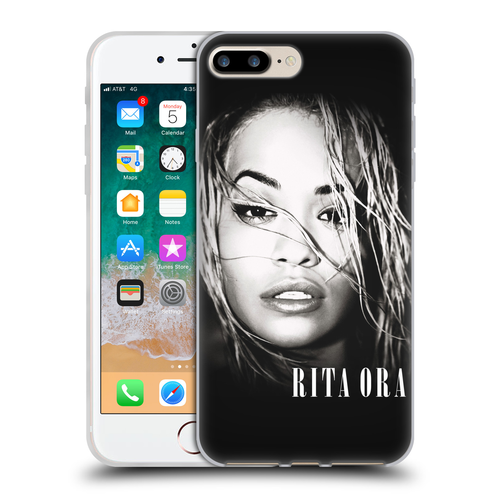 HEAD CASE silikonový obal na mobil Apple Iphone 7 PLUS zpěvačka Rita Ora foto tvář