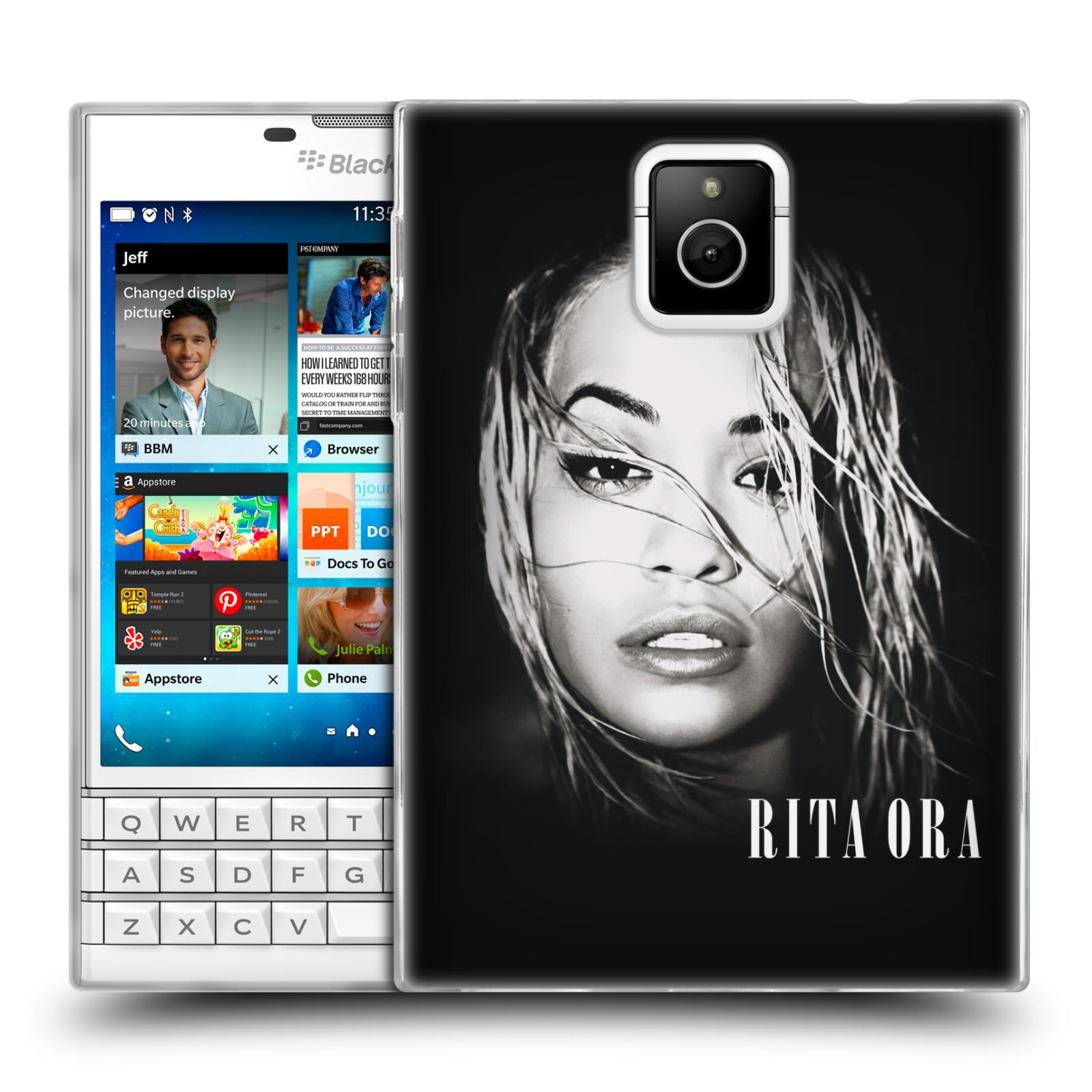HEAD CASE silikonový obal na mobil Blackberry PASSPORT zpěvačka Rita Ora foto tvář