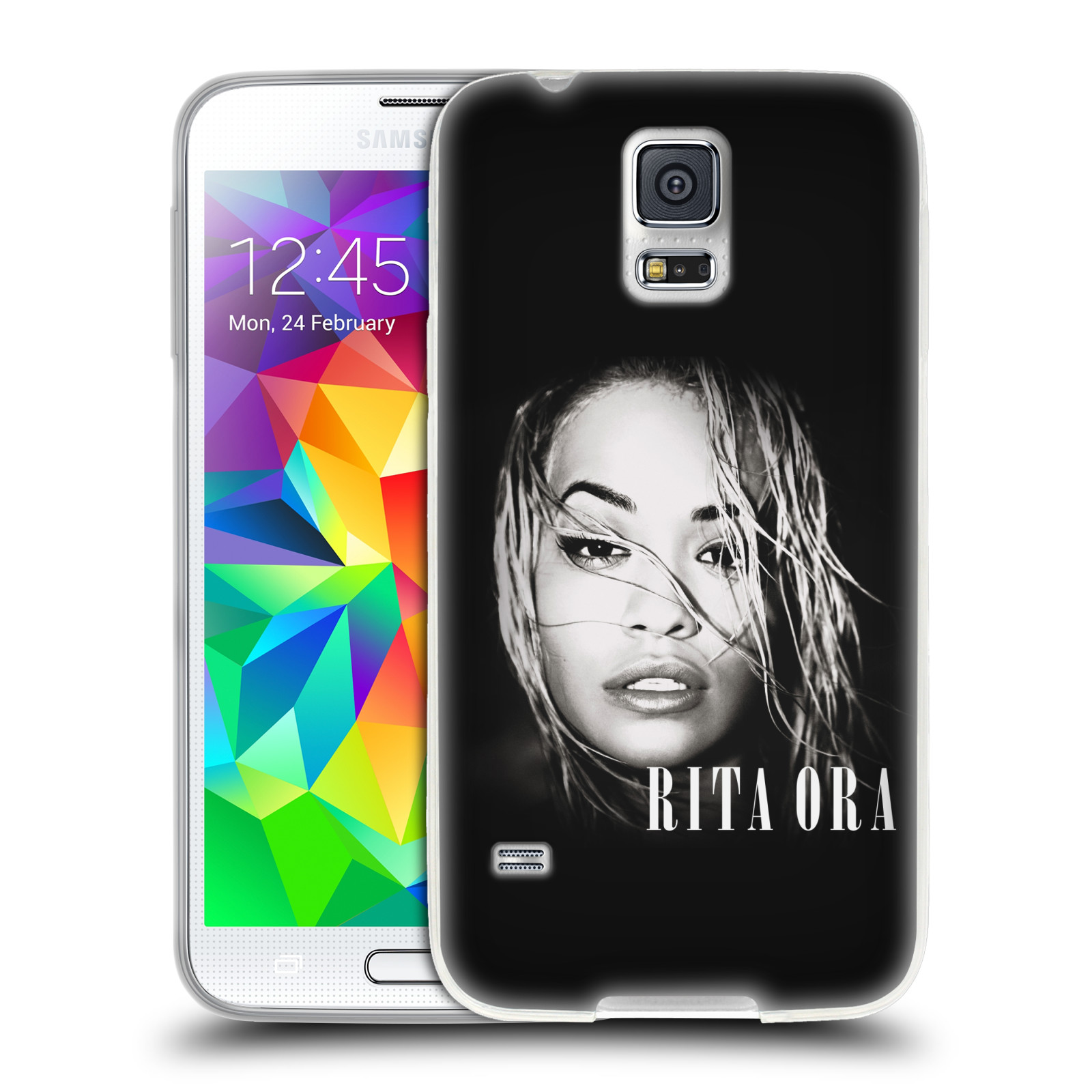 HEAD CASE silikonový obal na mobil Samsung Galaxy S5 zpěvačka Rita Ora foto tvář