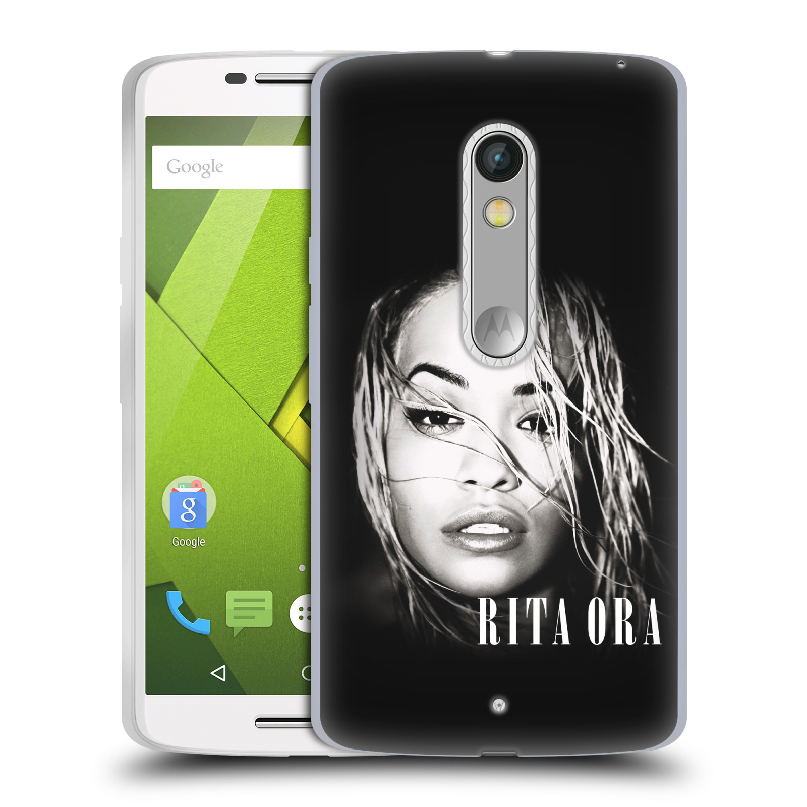 HEAD CASE silikonový obal na mobil Lenovo Moto X PLAY zpěvačka Rita Ora foto tvář