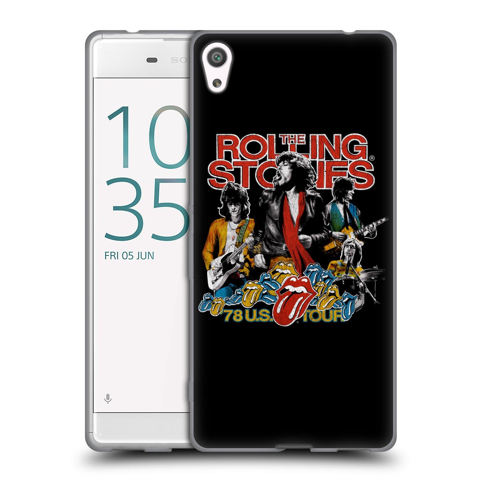 HEAD CASE silikonový obal na mobil Sony Xperia XA ULTRA rocková skupina Rolling Stones barevný motiv