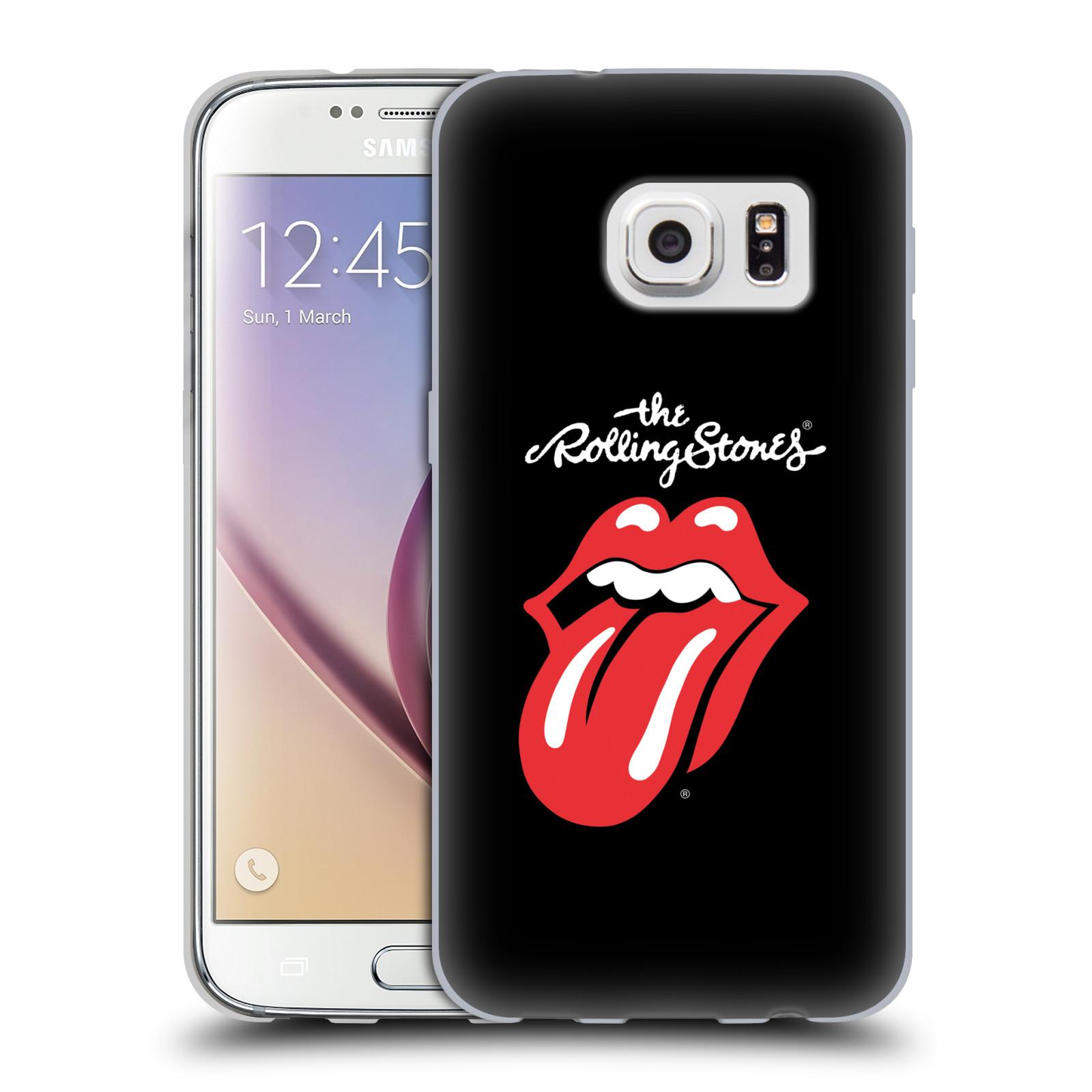 HEAD CASE silikonový obal na mobil Samsung Galaxy S7 rocková skupina Rolling Stones znak černá a červená