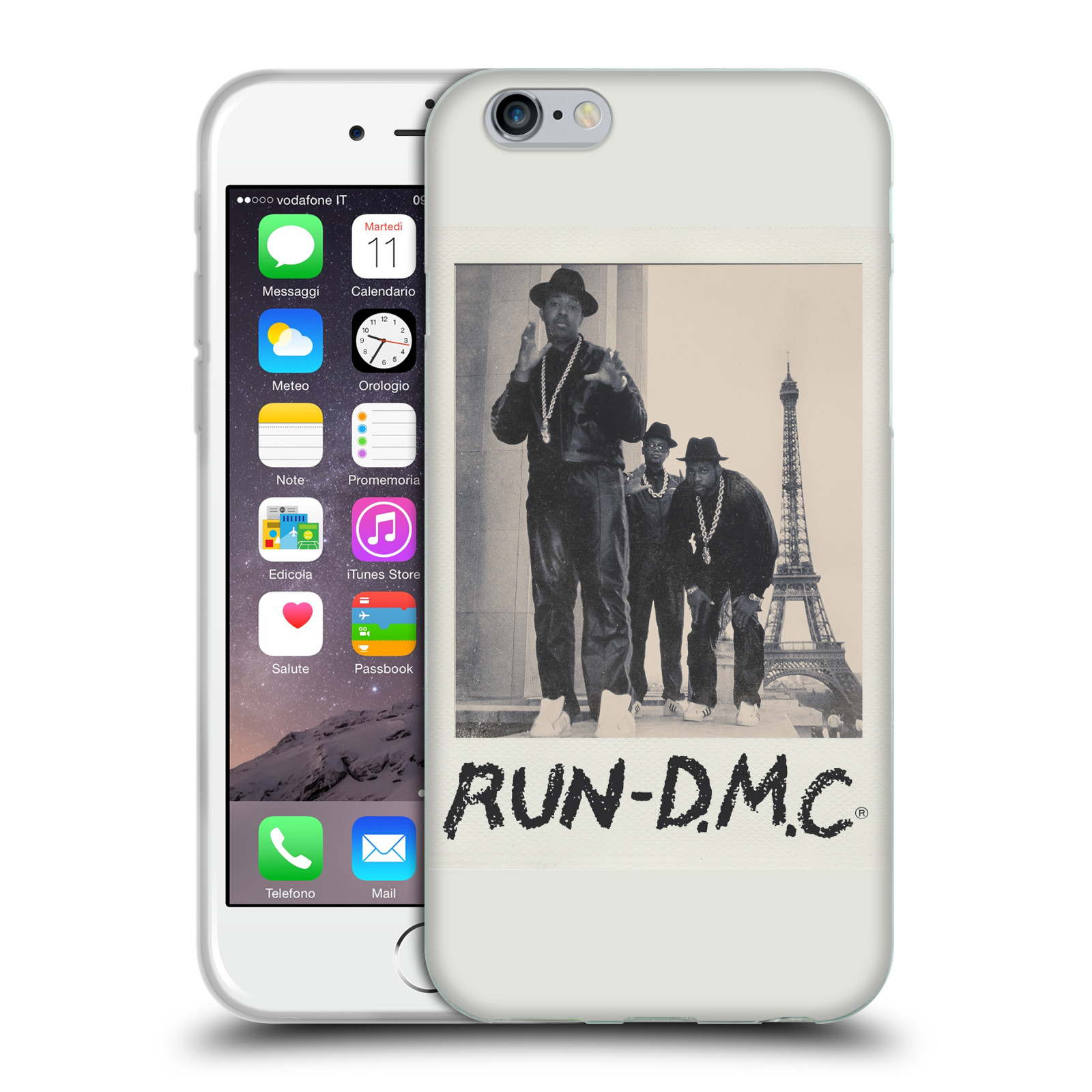 HEAD CASE silikonový obal na mobil Apple Iphone 6/6S rapová kapela Run DMC foto polaroid