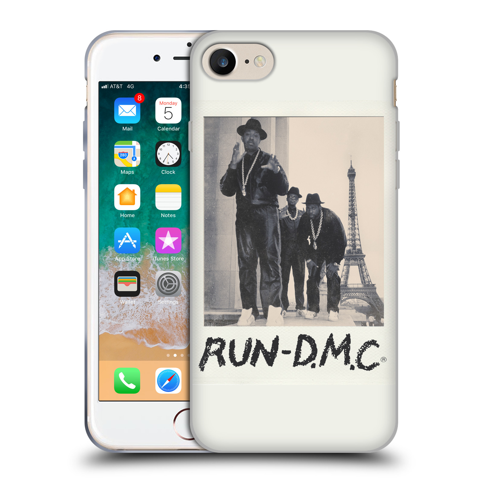 HEAD CASE silikonový obal na mobil Apple Iphone 7 rapová kapela Run DMC foto polaroid