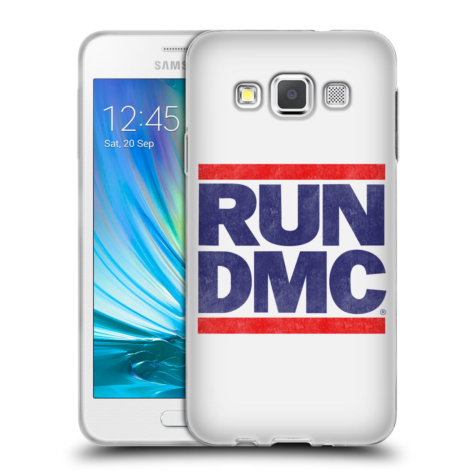 HEAD CASE silikonový obal na mobil Samsung Galaxy A3 (A300) rapová kapela Run DMC modrá a červená nadpis