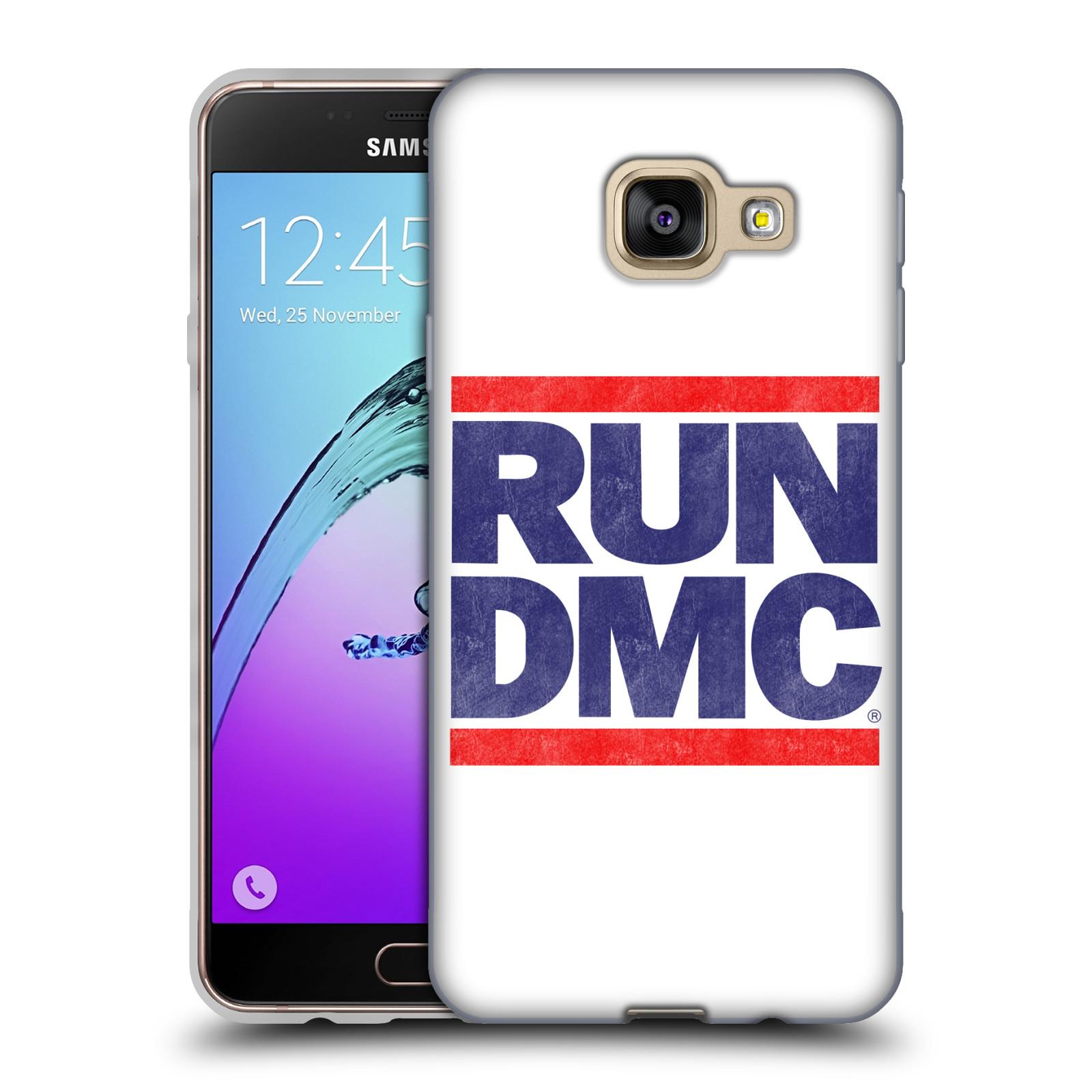 HEAD CASE silikonový obal na mobil Samsung Galaxy A3 2016 (A310) rapová kapela Run DMC modrá a červená nadpis