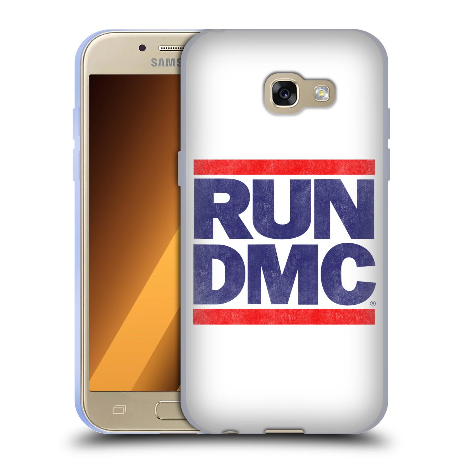 HEAD CASE silikonový obal na mobil Samsung Galaxy A3 2017 (A320) rapová kapela Run DMC modrá a červená nadpis