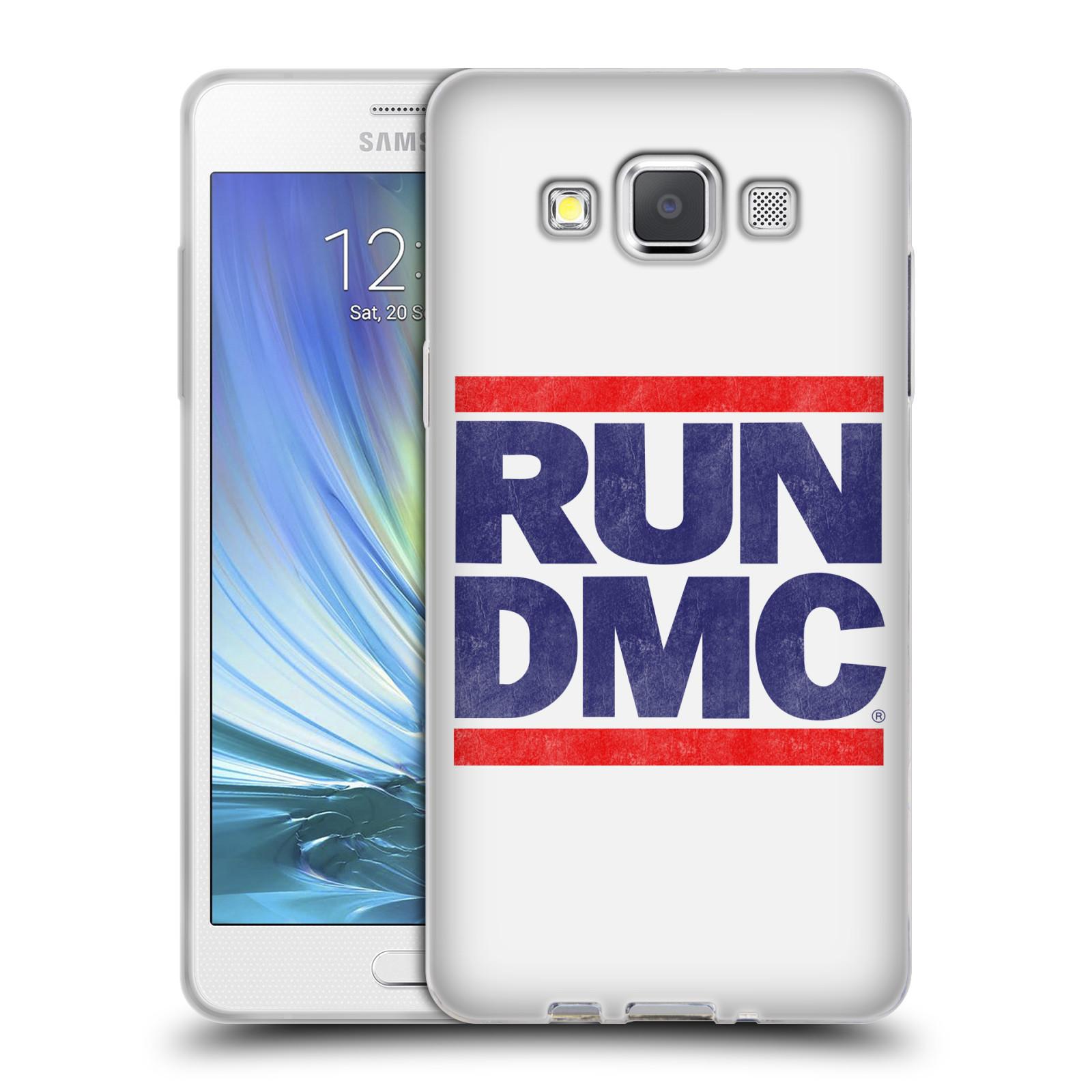 HEAD CASE silikonový obal na mobil Samsung Galaxy A5 (A500) rapová kapela Run DMC modrá a červená nadpis