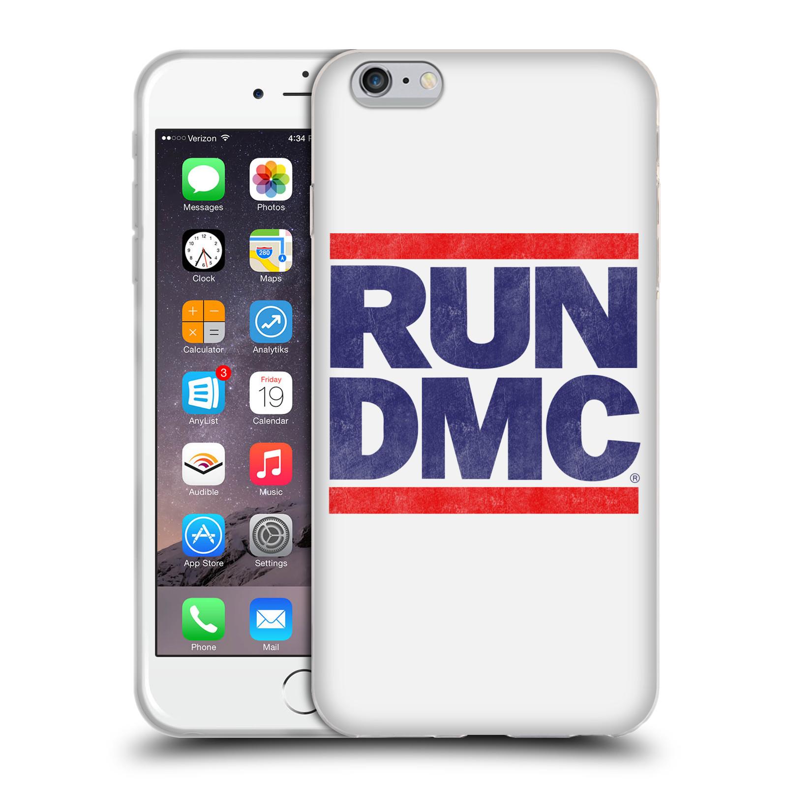 HEAD CASE silikonový obal na mobil Apple Iphone 6/6S PLUS rapová kapela Run DMC modrá a červená nadpis
