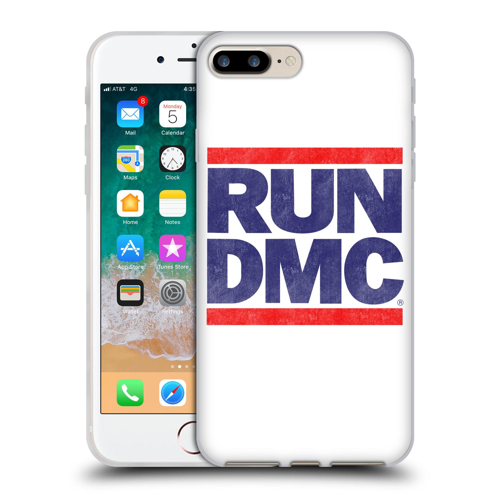 HEAD CASE silikonový obal na mobil Apple Iphone 7 PLUS rapová kapela Run DMC modrá a červená nadpis